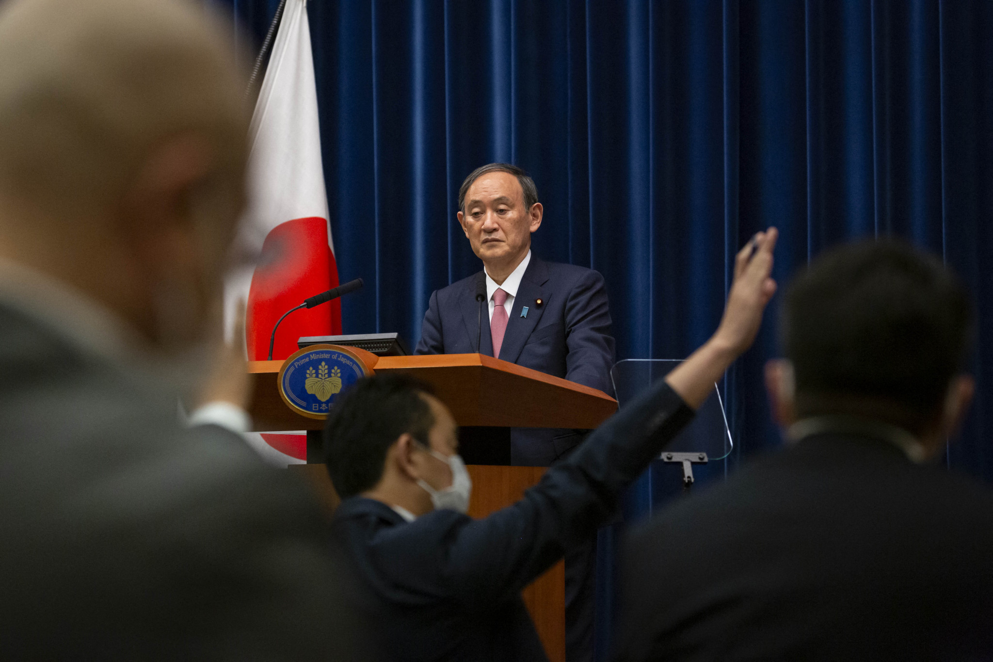 Prime Minister Yoshihide Suga is facing criticism for the Government's handling of the pandemic, with 71.5 per cent of those surveyed dissatisfied with the response ©Getty Images