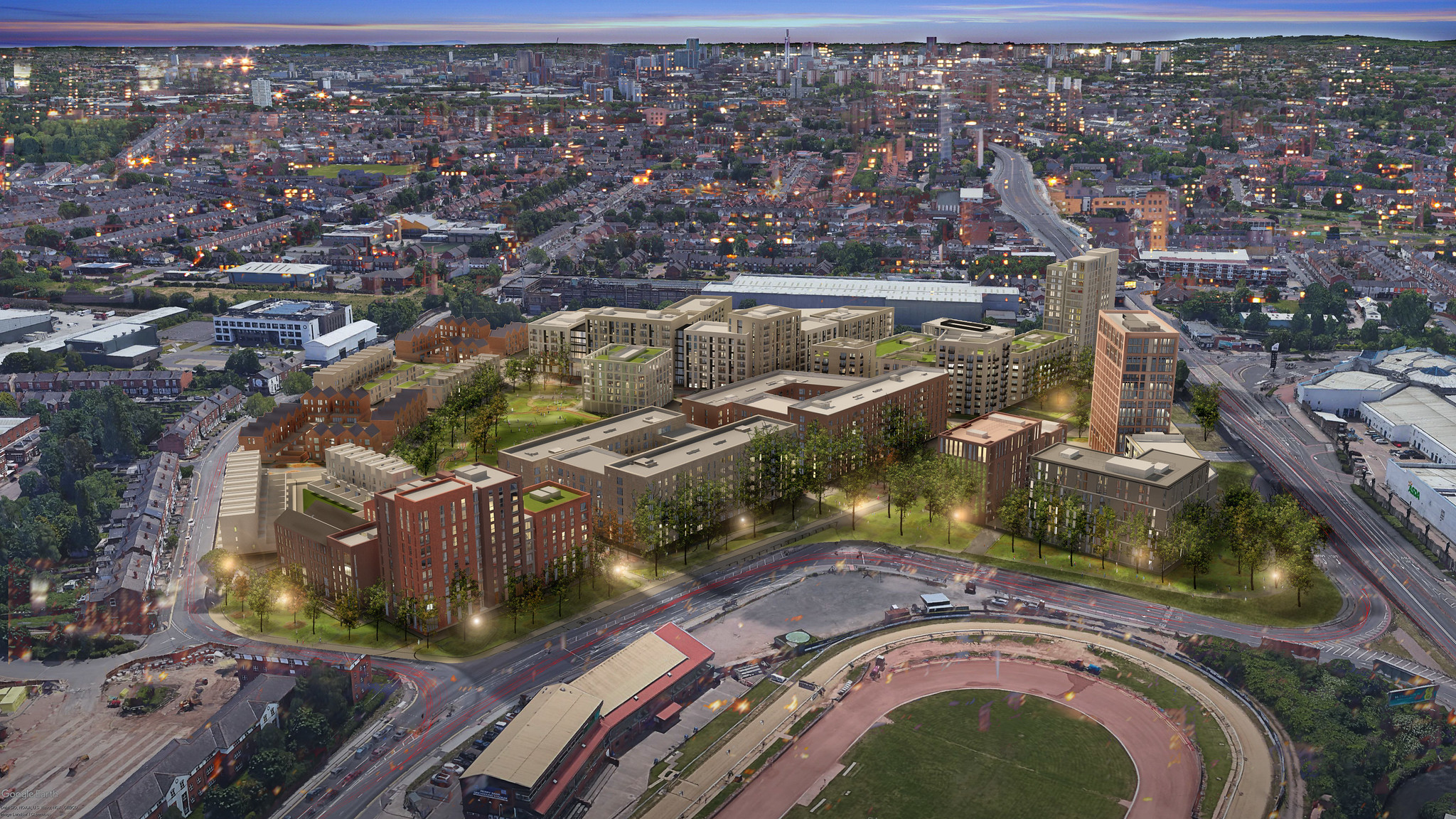 The regeneration of Perry Barr will be a key legacy from Birmingham 2022 ©Birmingham City Council