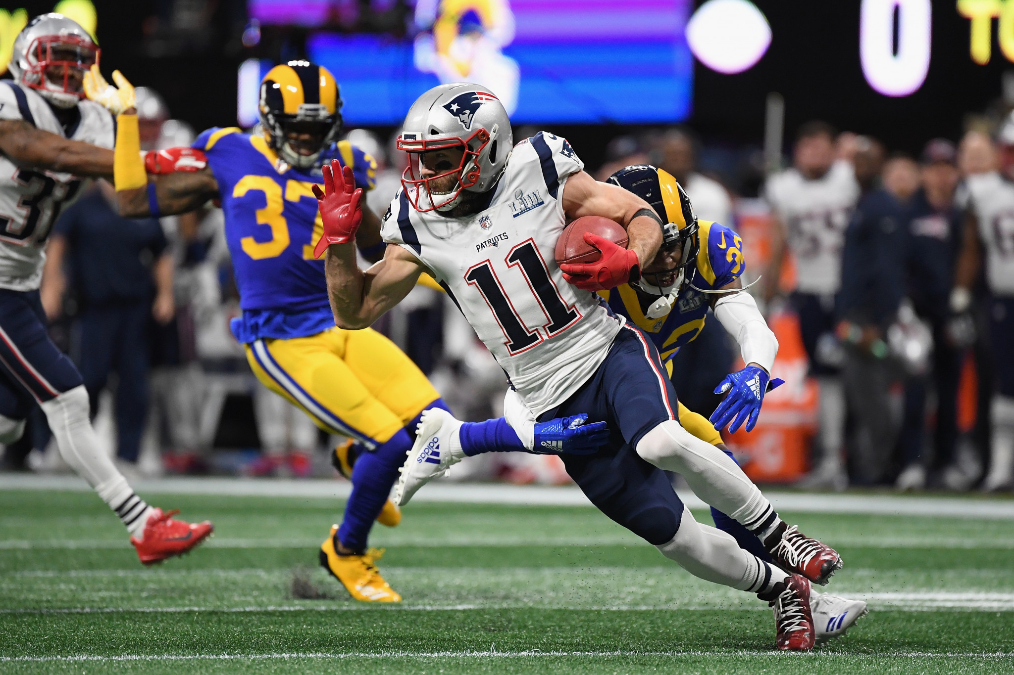 The same season Julian Edelman was crowned the Super Bowl's Most Valuable Player, he was only suspended for four games for testing positive for performance-enhancing drugs ©Getty Images