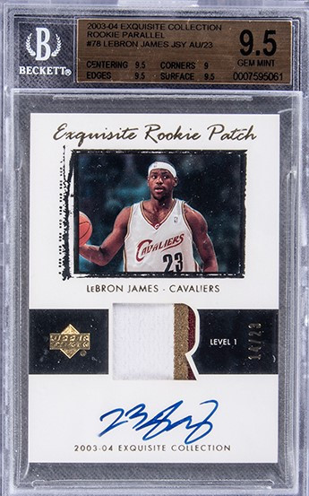 A LeBron James card from his rookie season in 2002-2003 has sold for a record $5.2 million ©PWCC Marketplace