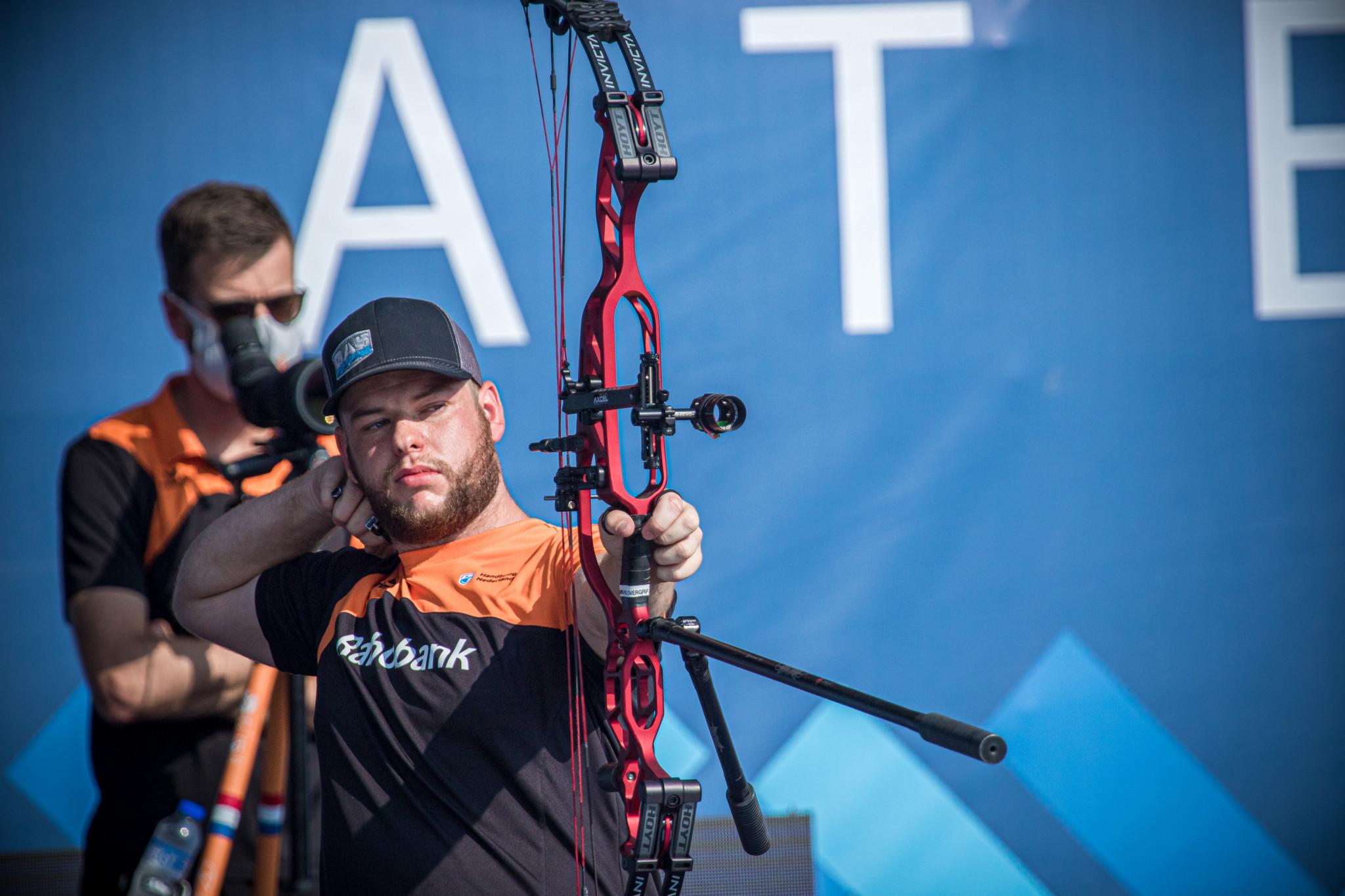 Schloesser and Gellenthien win compound titles at Archery World Cup in Lausanne