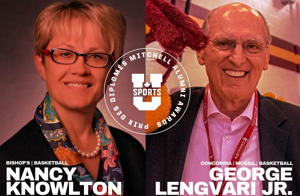 Basketball graduates Lengvari and Knowlton first winners of new U SPORTS award
