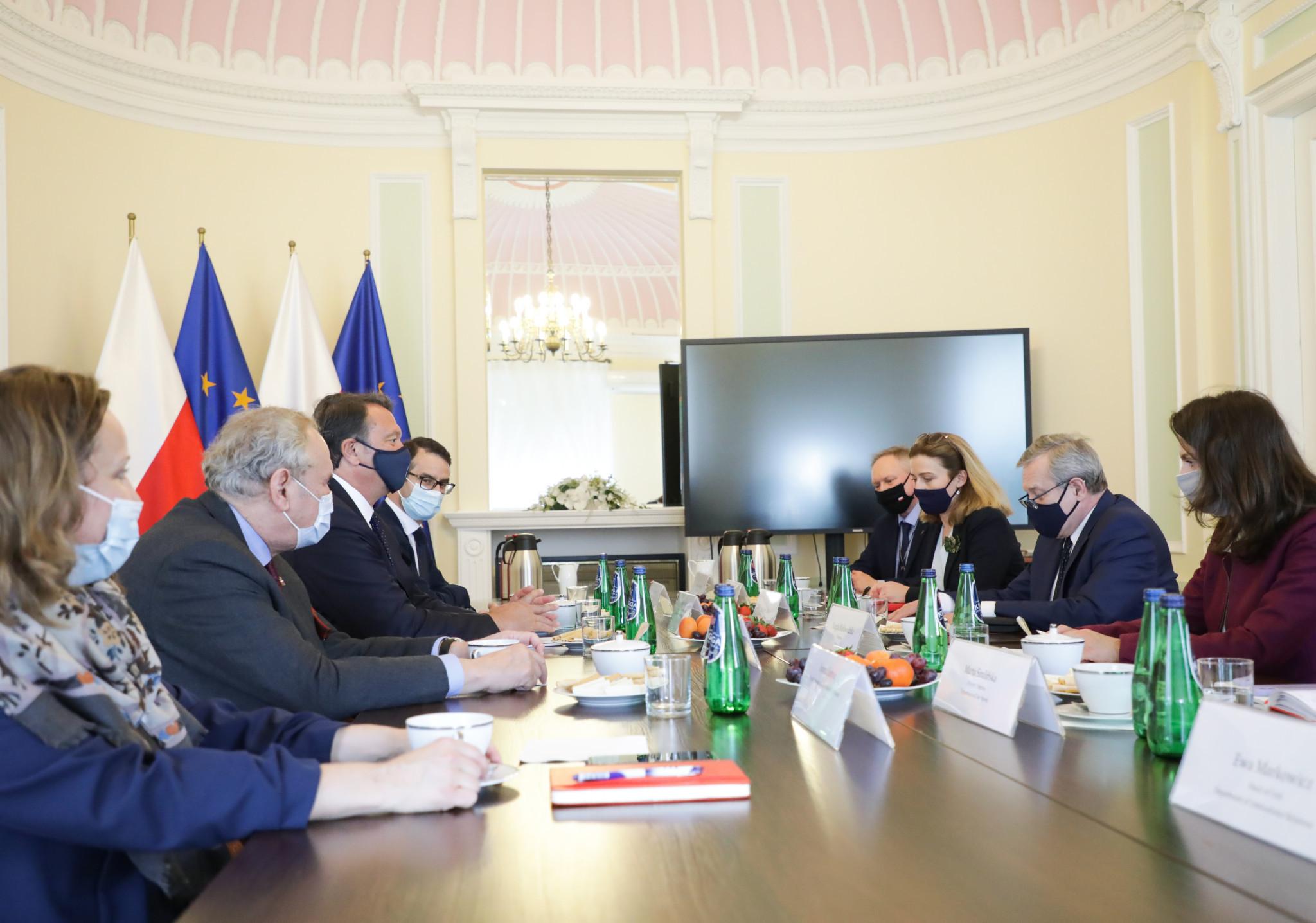Polski wicepremier powiedział, że kraj jest zdeterminowany do organizacji igrzysk.  © Rząd RP / Danuta Matloch