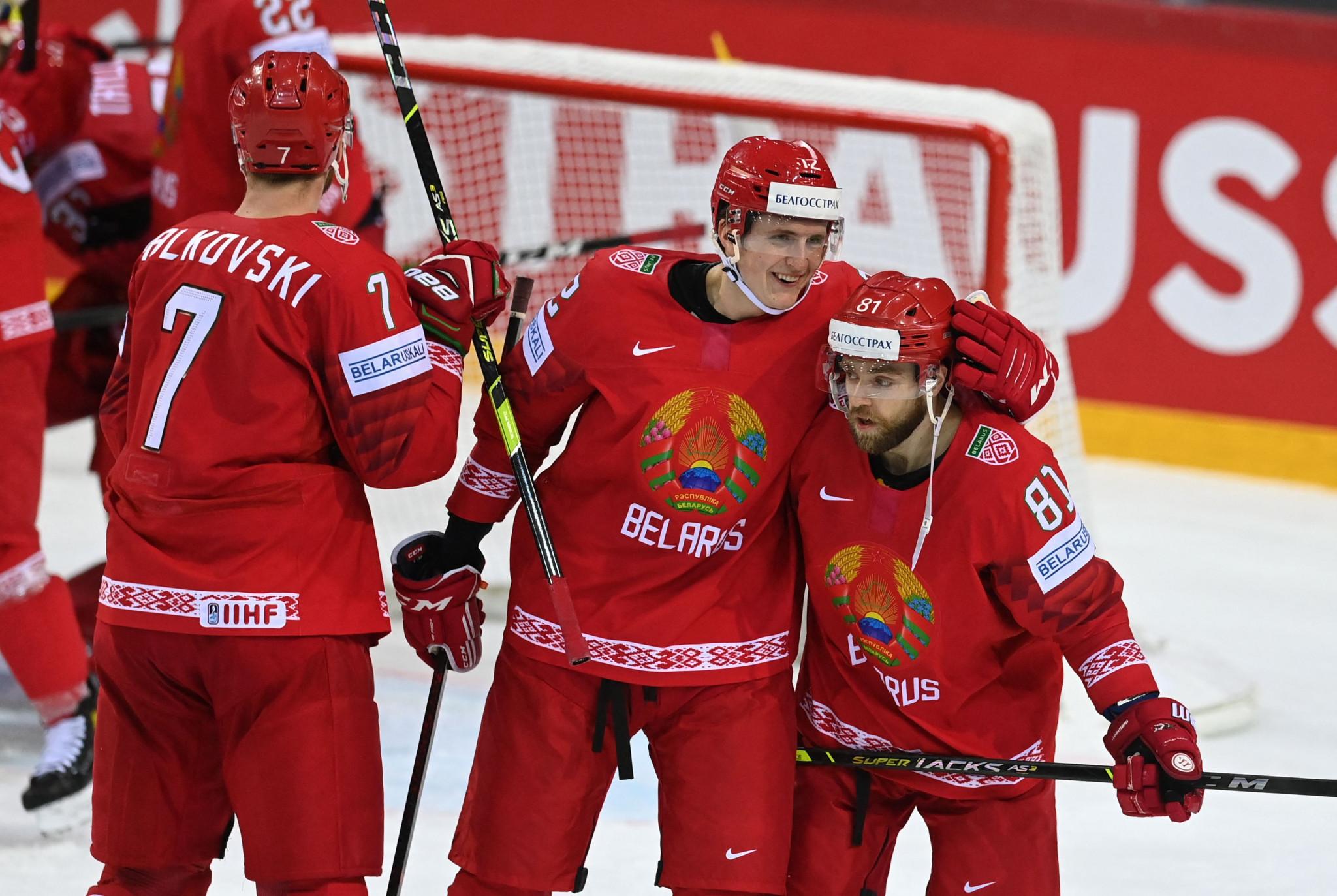 Belarus produced a dogged display to defeat Sweden for the first time in nine World Championship meetings ©Getty Images
