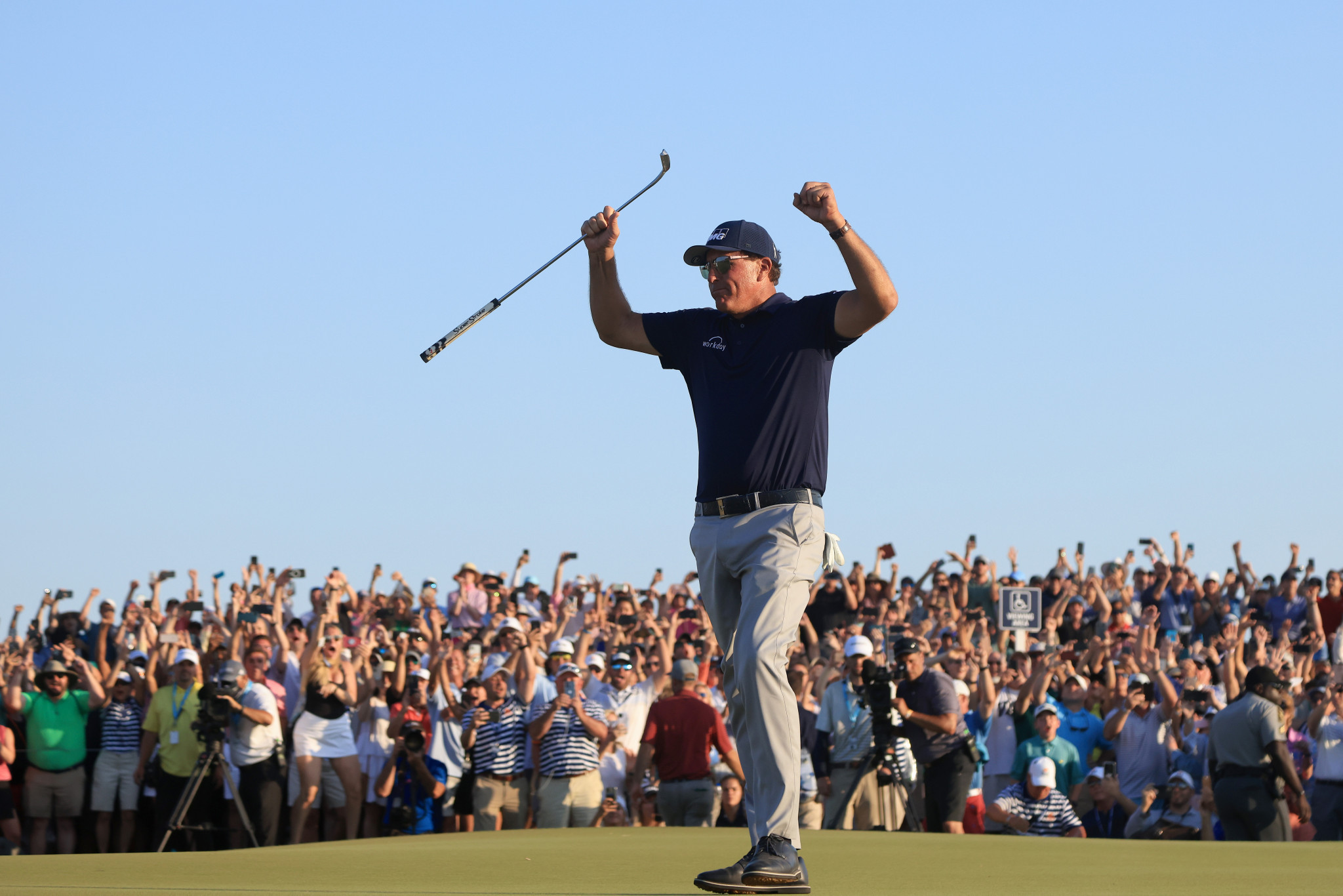 Cool-headed Mickelson wins PGA Championship to become golf's oldest major champion