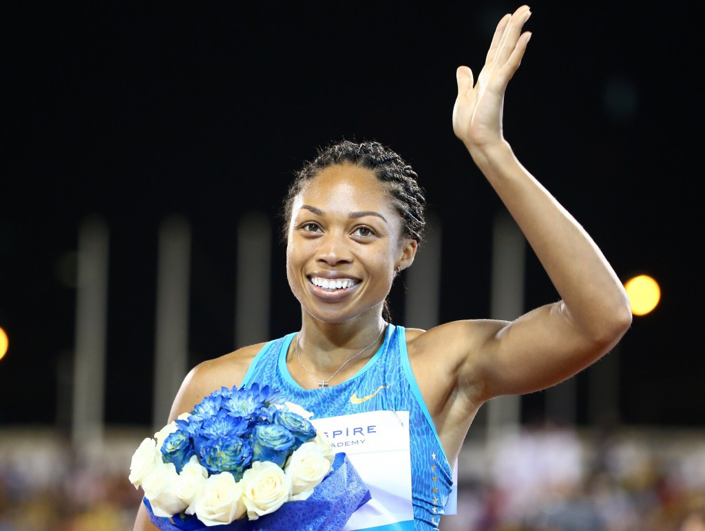 America's Allyson Felix earned the nineteenth Diamond League win of her career in Doha