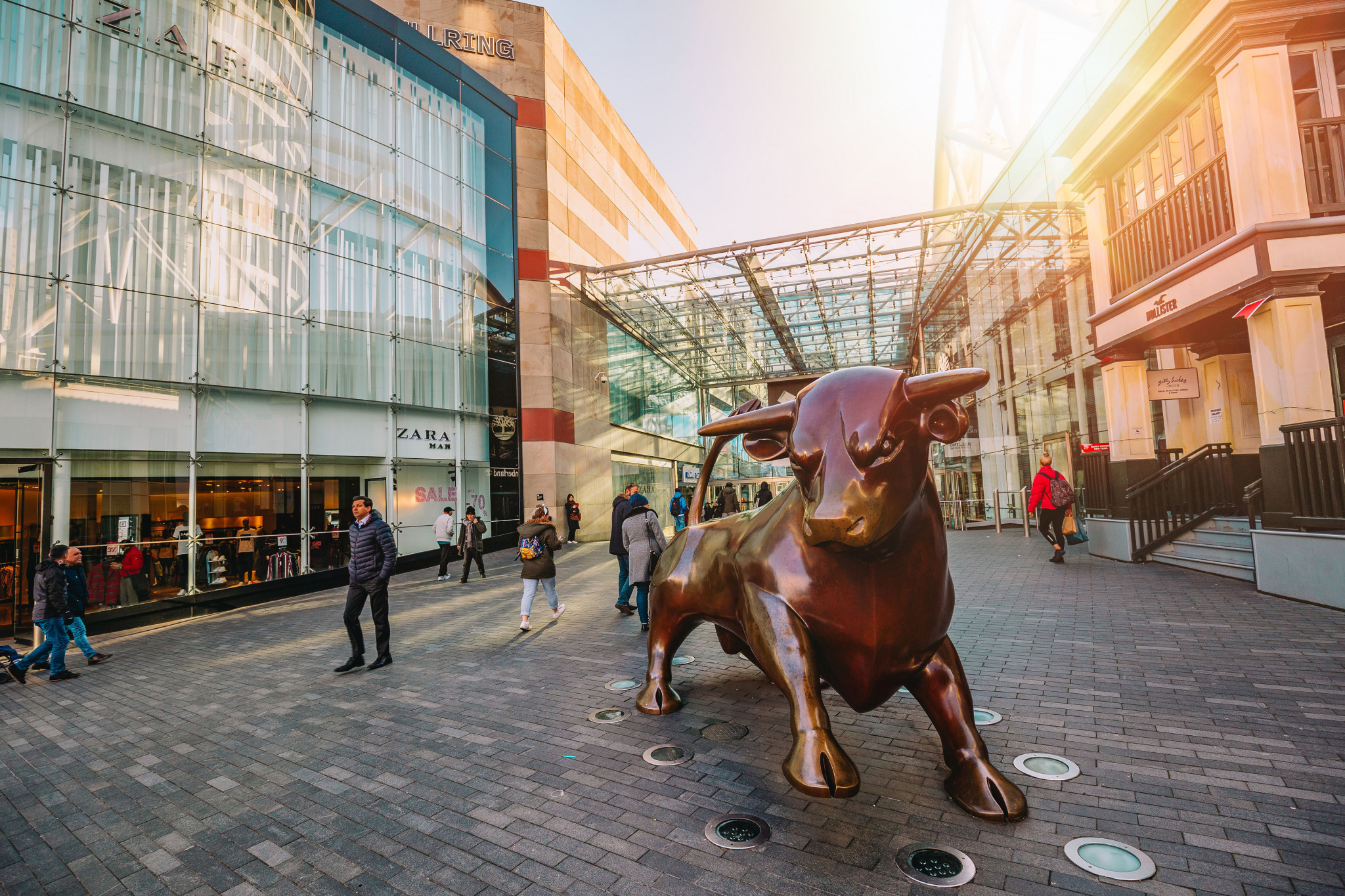 The famous Bullring is a landmark in Birmingham and home to excellent shops and restaurants ©WMGC