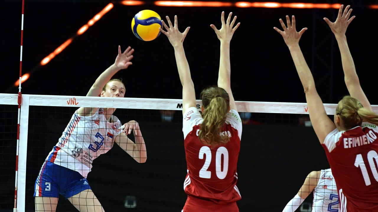 Serbia bounce back and Japan upset Olympic champions at Volleyball Nations League