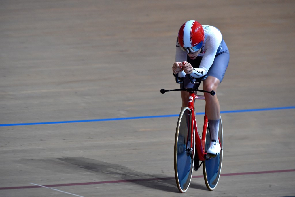 Bridie O'Donnell was the third woman to attempt the hour record since the UCI changed rules on aerodynamic bikes in 2014