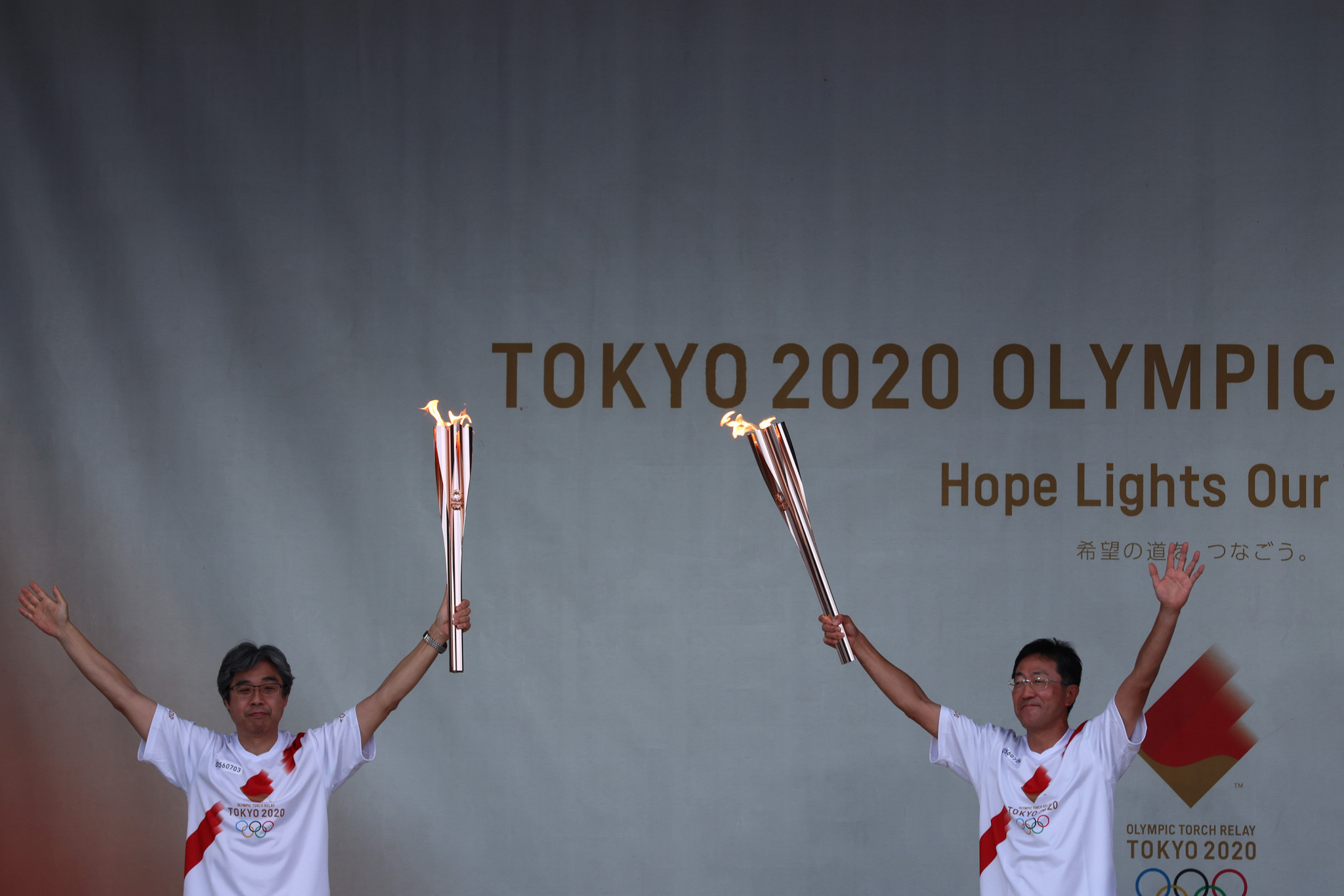 Coronavirus restrictions mean the Tokyo 2020 Torch Relay has been a low key affair ©Getty Images