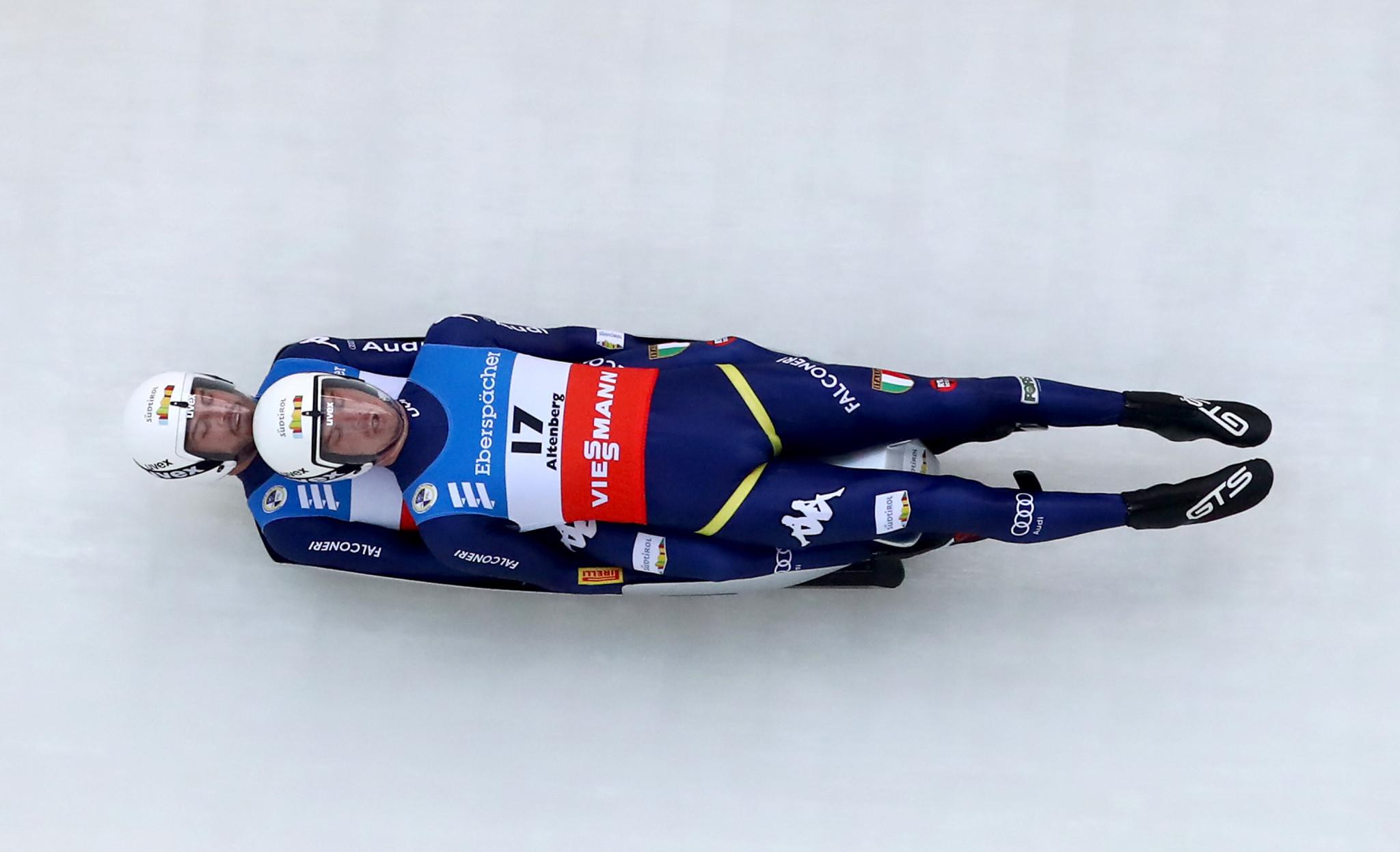 La squadra di doppio composta da Ludwig Rieder e Patrick Rastner è tra coloro che sperano di correre alle terze Olimpiadi invernali © Getty Images