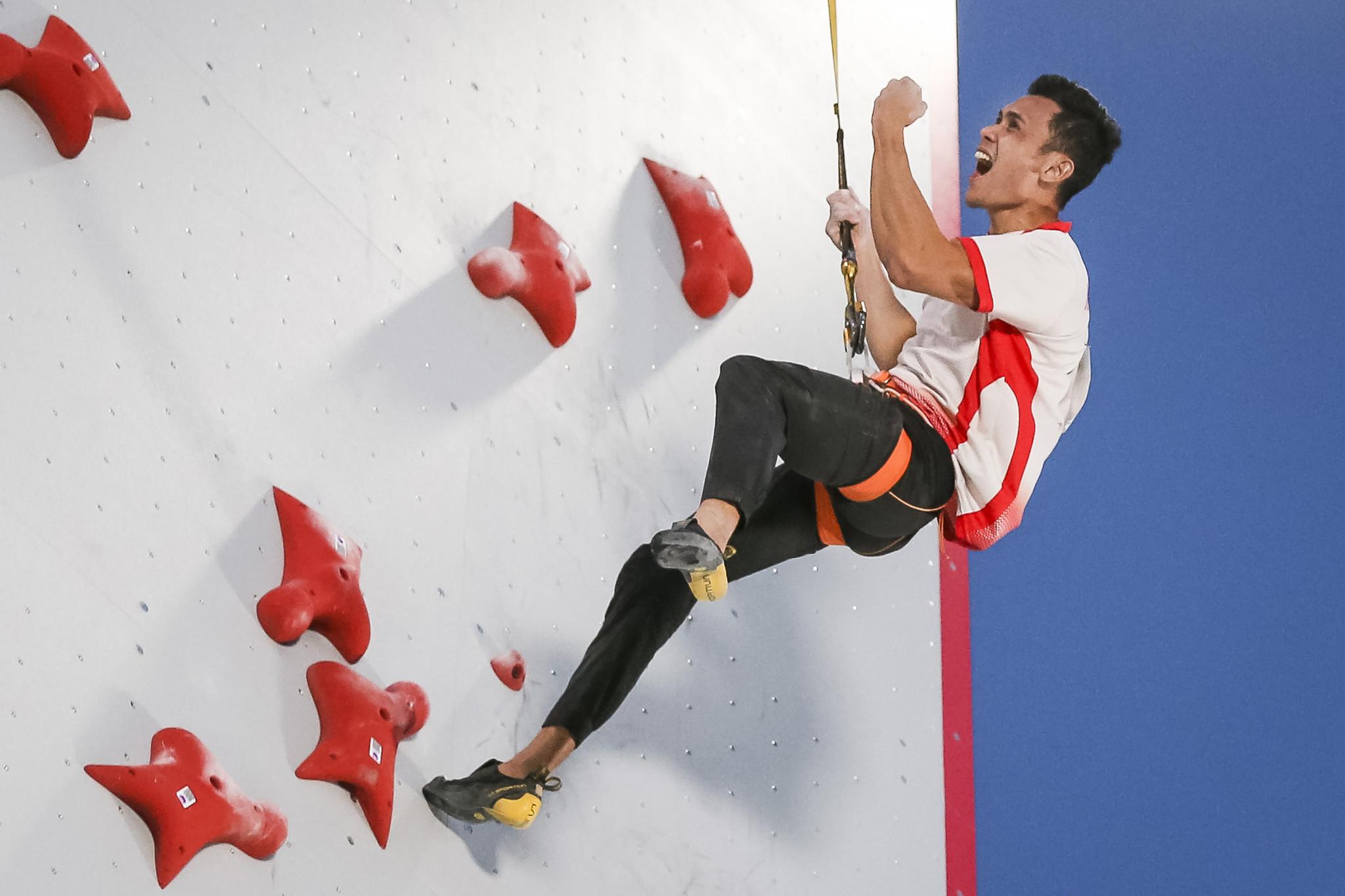 Leonardo breaks rival's men's speed record to win Salt Lake City IFSC World Cup