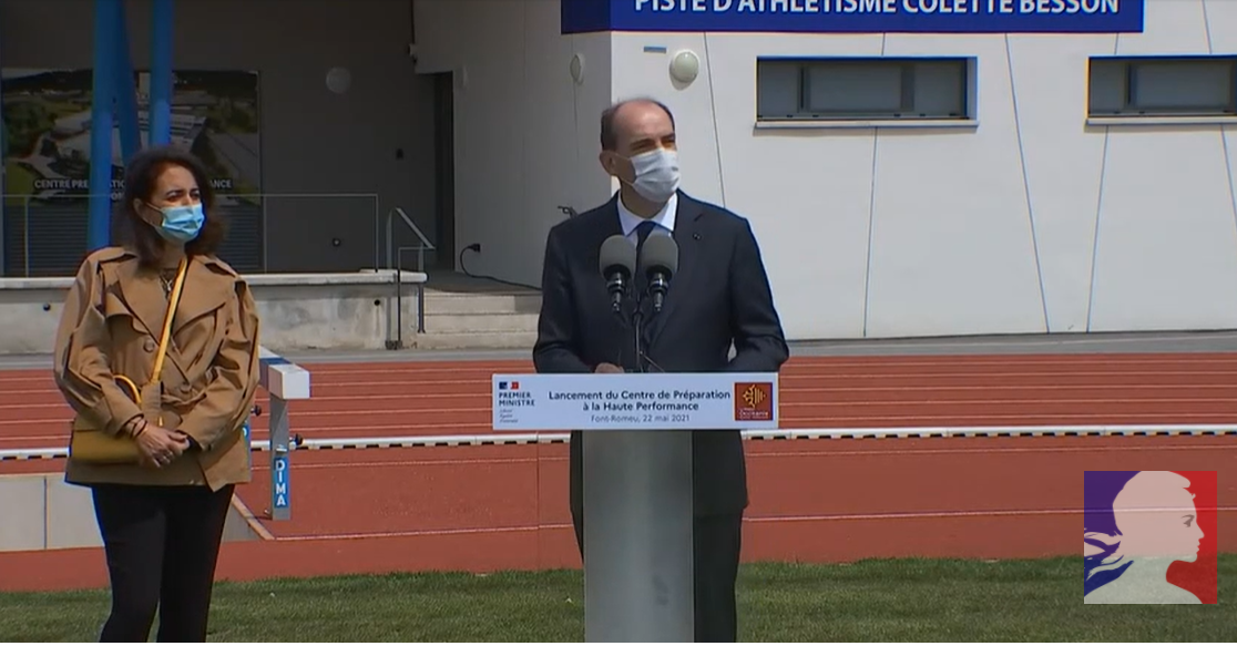 French PM Castex opens track at Font Romeu and gets High Performance Preparation Centre plan in motion