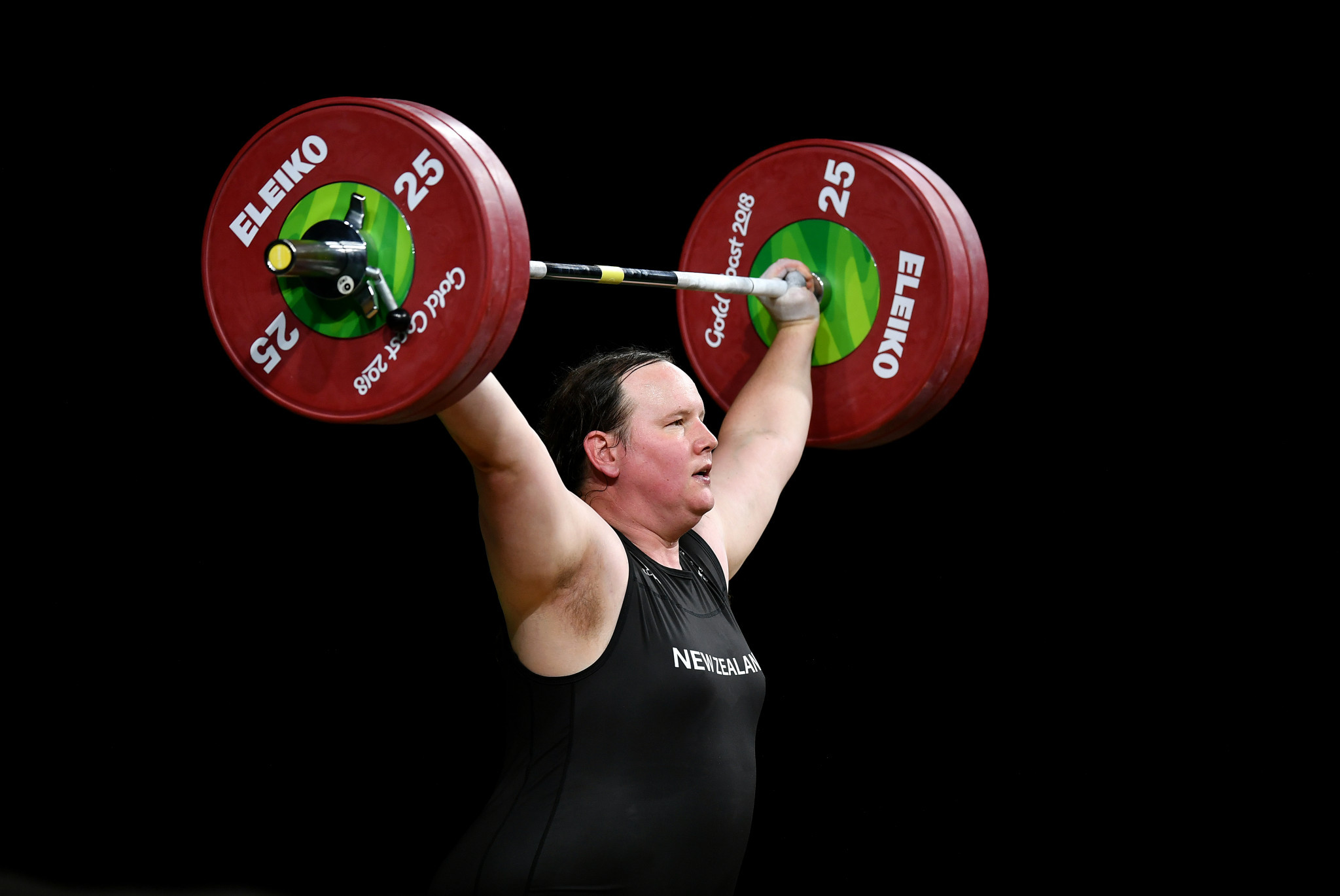 Laurel Hubbard has qualified for the Olympics and could be a medal contender in the women's super-heavyweight category ©Getty Images