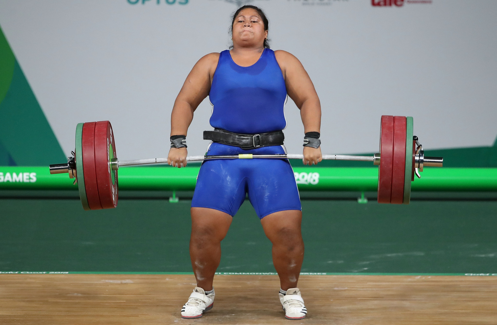 Samoa's Feagaiga Stowers was second at the 2017 Pacific Games, behind Laurel Hubbard ©Getty Images