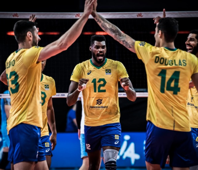 Brazil, France and Japan remain unbeaten following third day of men's Volleyball Nations League