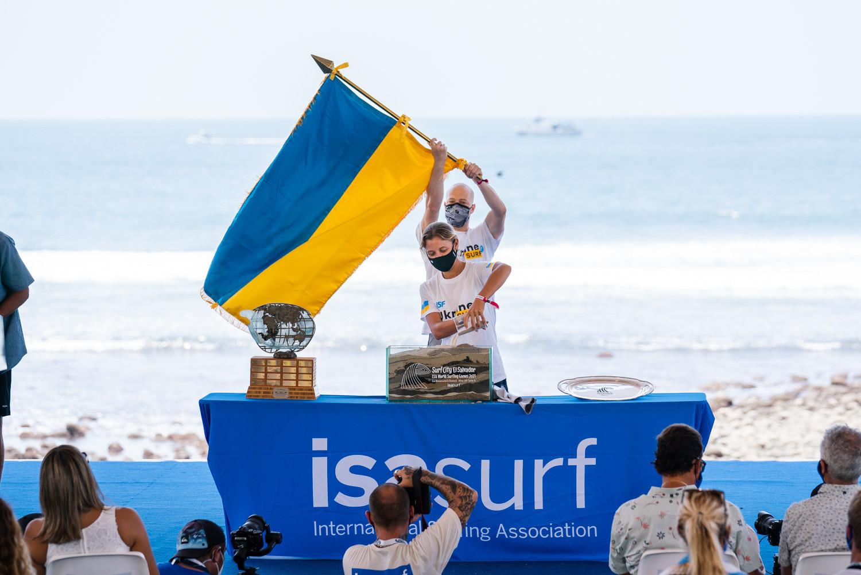 World Surfing Games debut of 109th ISA member Ukraine hailed as landmark for nation's surfers