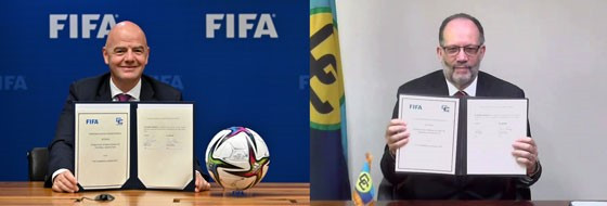 FIFA signs landmark agreement over young footballers with Caribbean Community