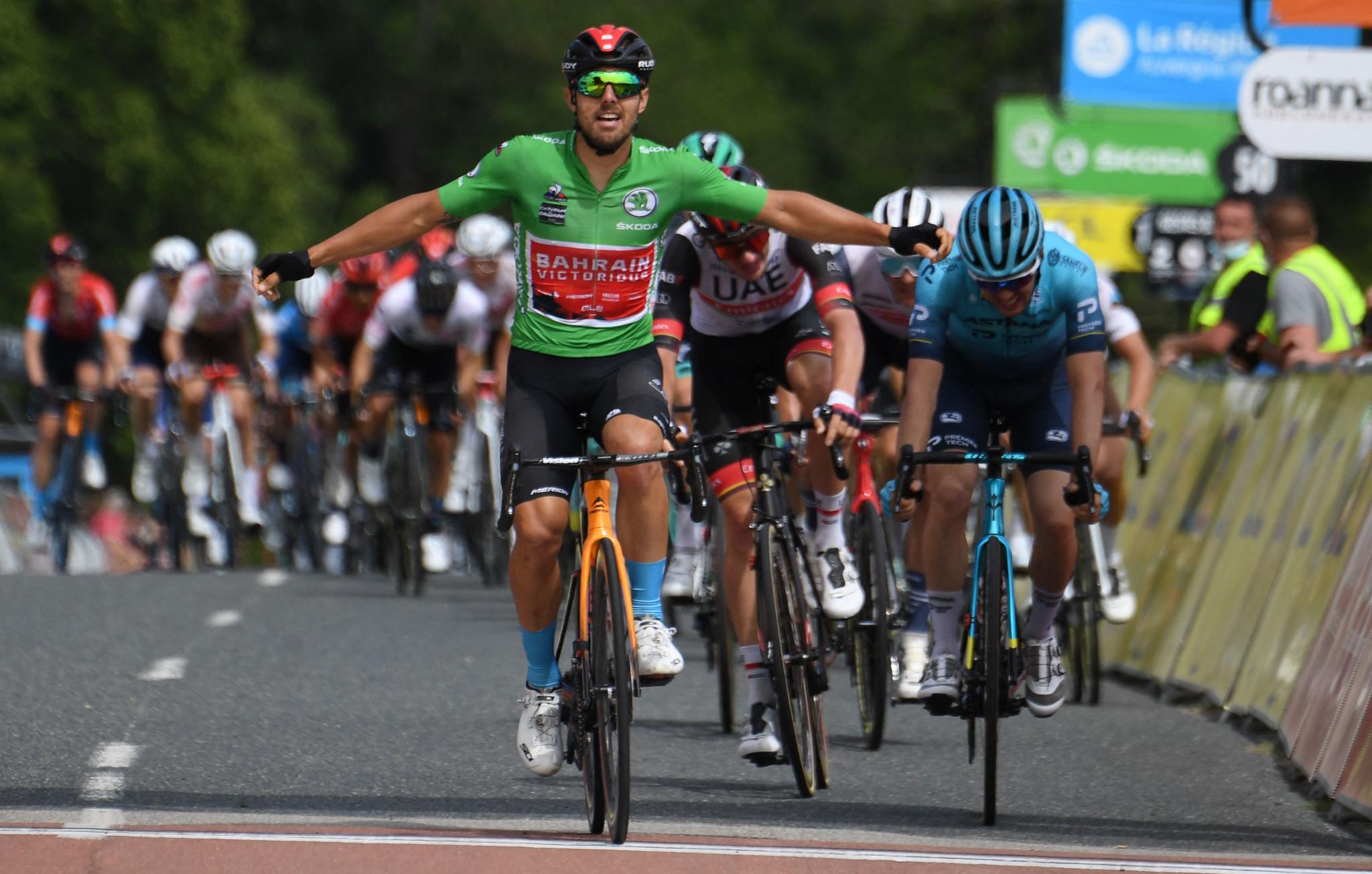 Colbrelli wins Critérium du Dauphiné stage at third attempt