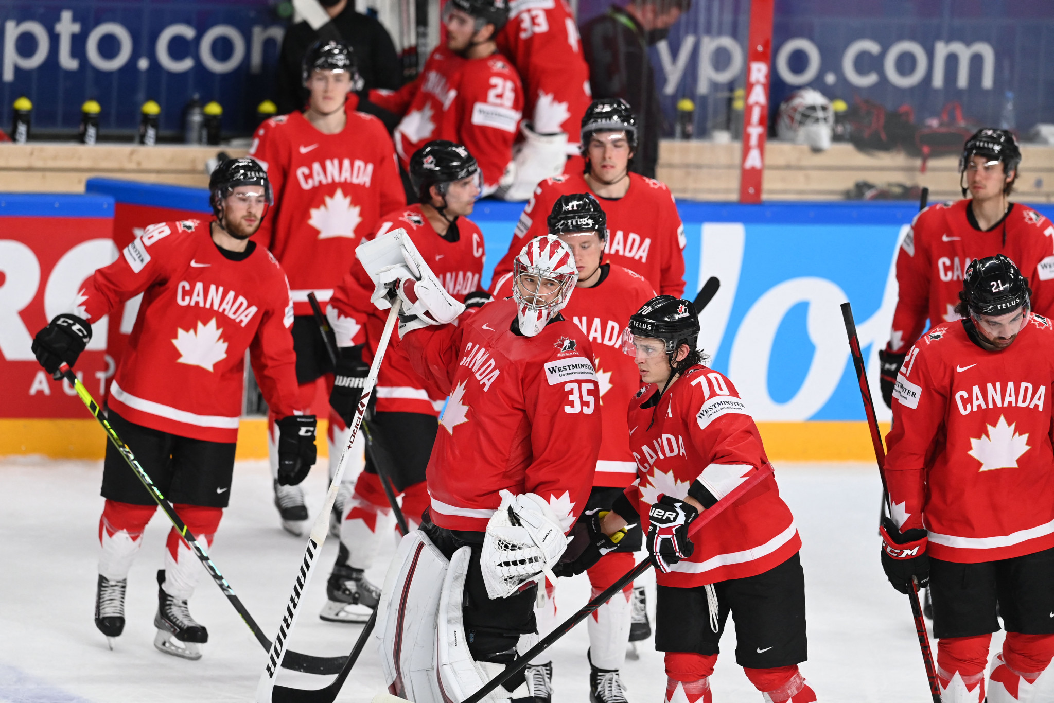Canada and Germany through as hosts Latvia exit IIHF World Championship