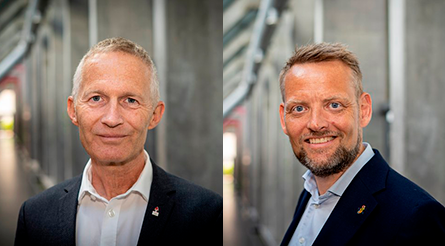 Thomas Bach and Hans Natorp are hoping to become President of the Danish NOC ©DIF