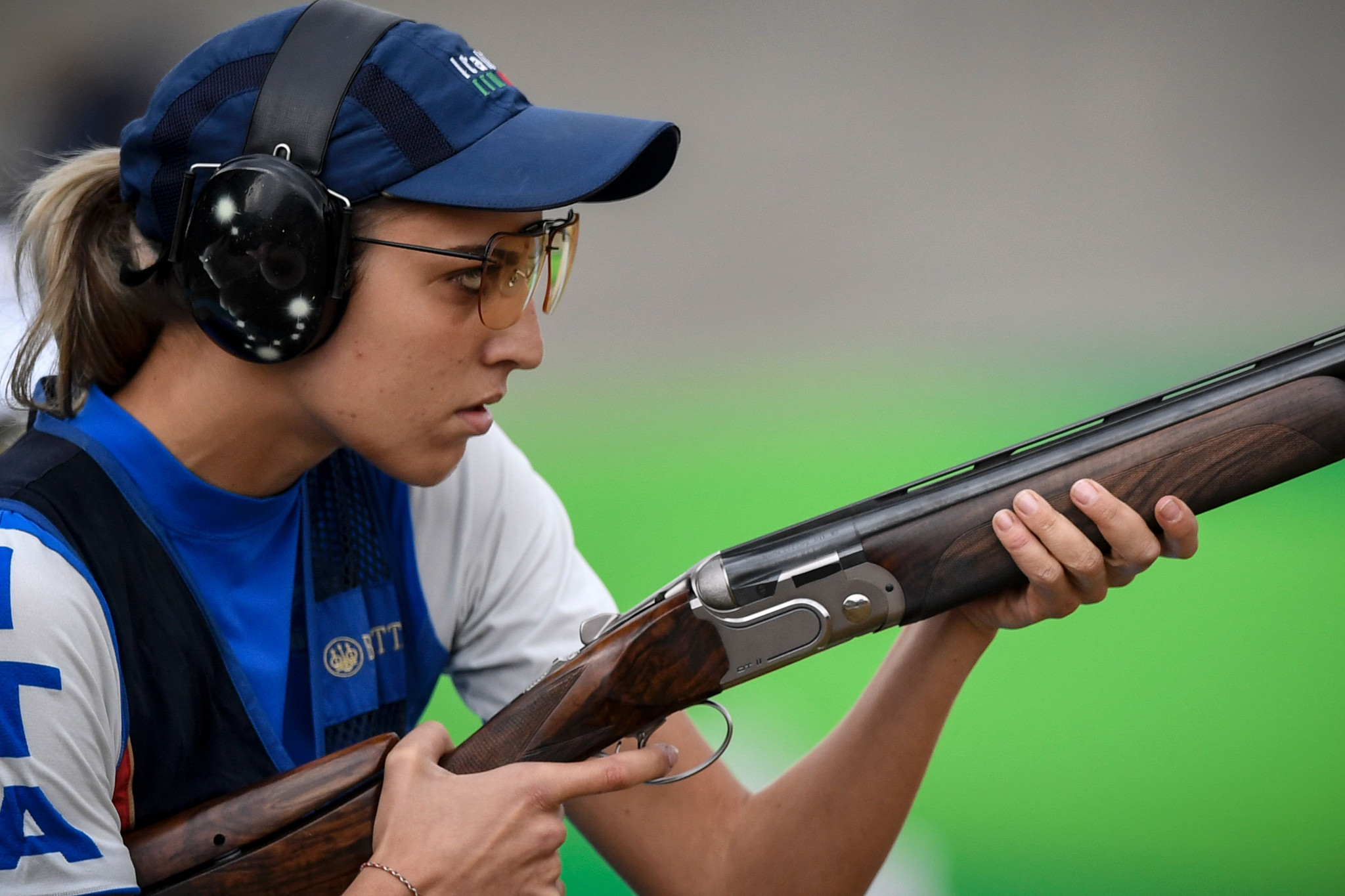 Jessica Rossi finished second to Daria Semianova in the women's trap ©Getty Images