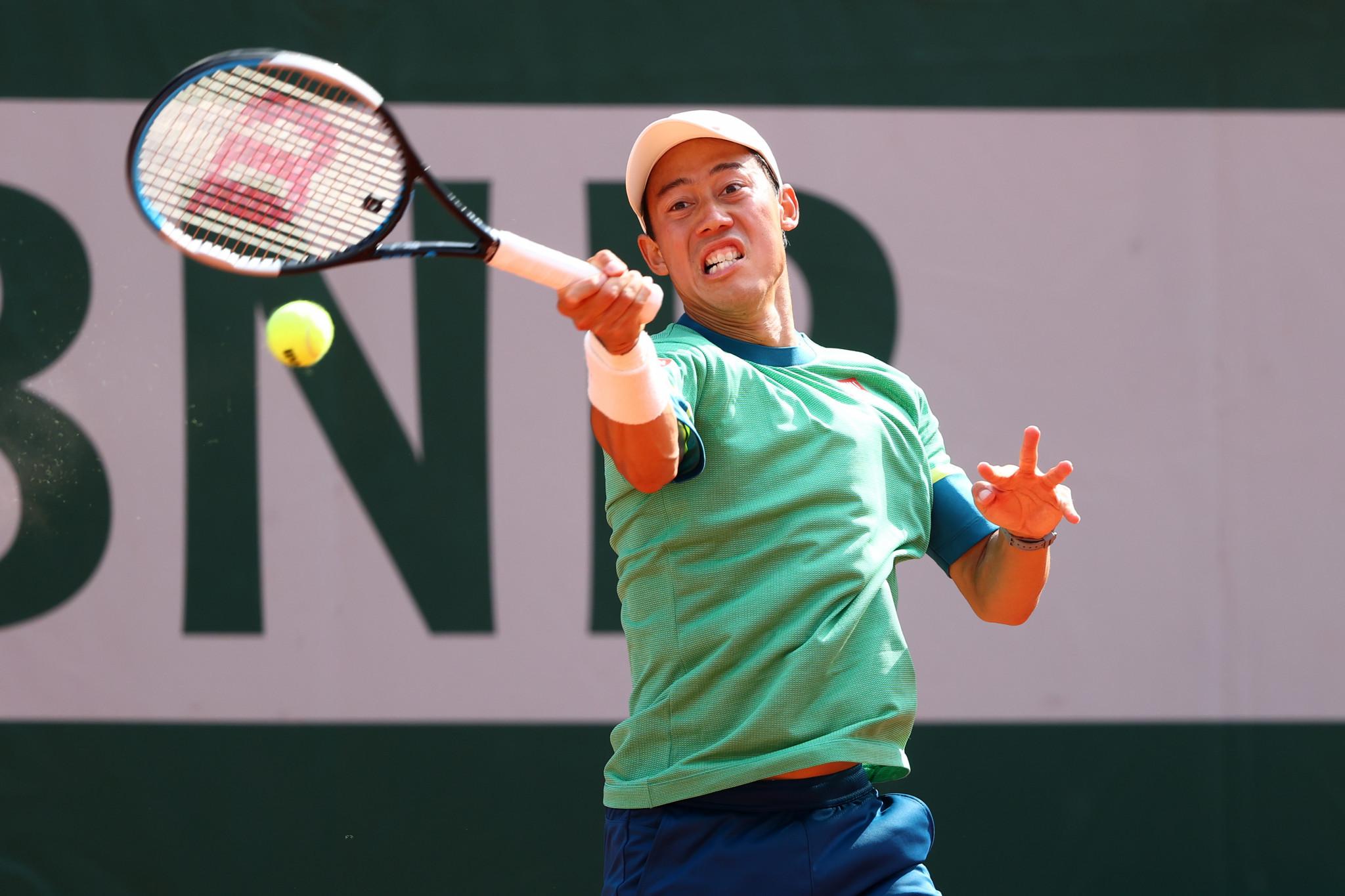 Marathon man Nishikori claims back-to-back five-set victories at French Open