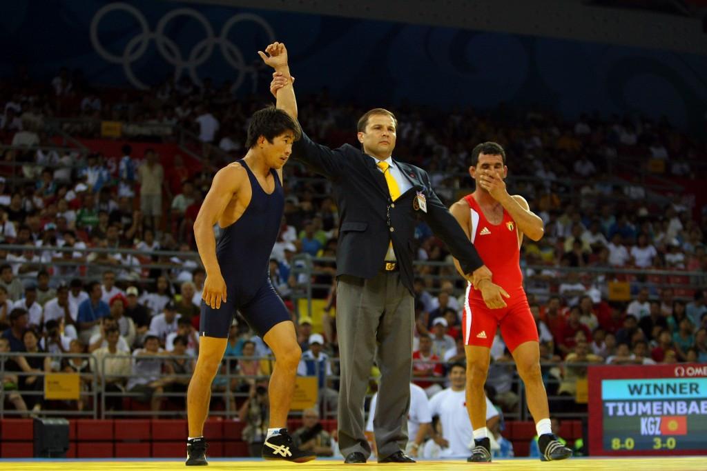 "Beijing 2008 Olympic wrestling medallist arrested for ""threatening policeman with pistol"""
