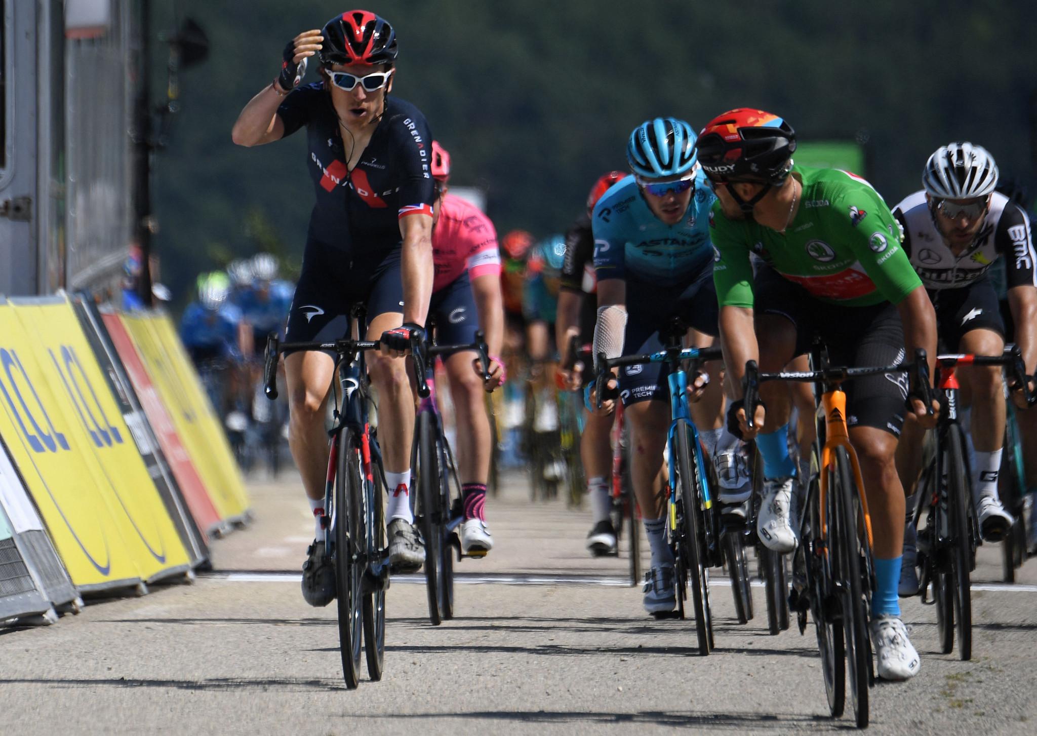 Thomas wins stage five of 2021 Critérium du Dauphiné in sprint