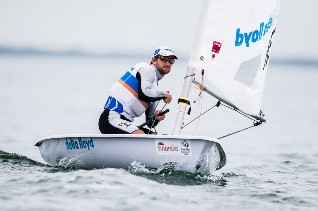 The Netherlands' Rutger van Schaardenburg made an impressive start to the Sailing World Cup in Miami after claiming victories in the first two races in the Laser division's yellow group ©World Sailing