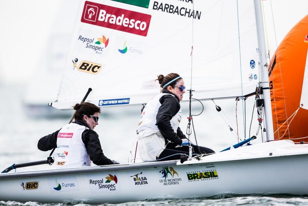 The Brazilian duo of Fernanda Oliveira and Ana Luiza Barbachan won the only women's 470 race