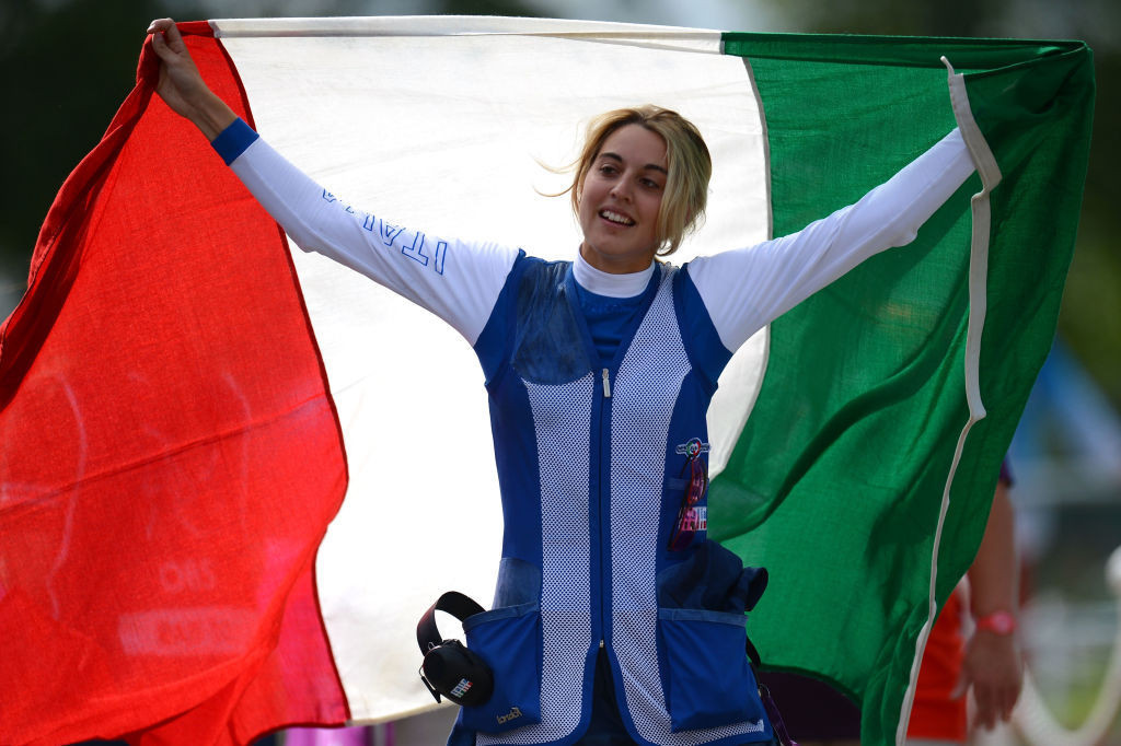 Italy's London 2012 gold medallist, winner in the previous day's trap mixed team event, had to settle for silver today in the women's trap team event at the European Shooting Championships in Osijek, Croatia ©Getty Images