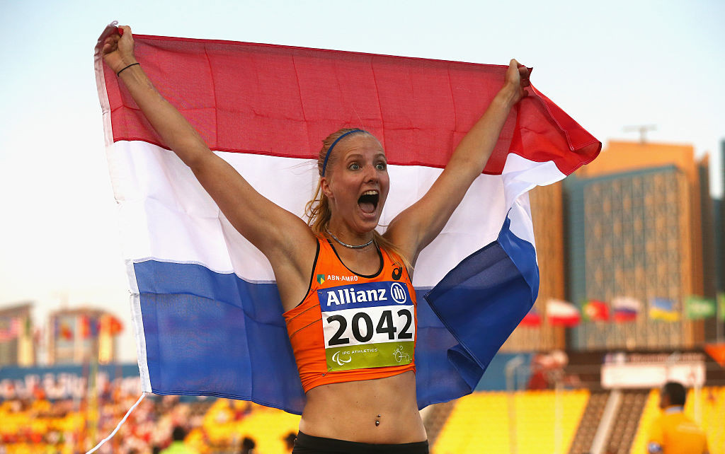 Jong follows 100m world record with two new marks in long jump at European Para Athletics Championships