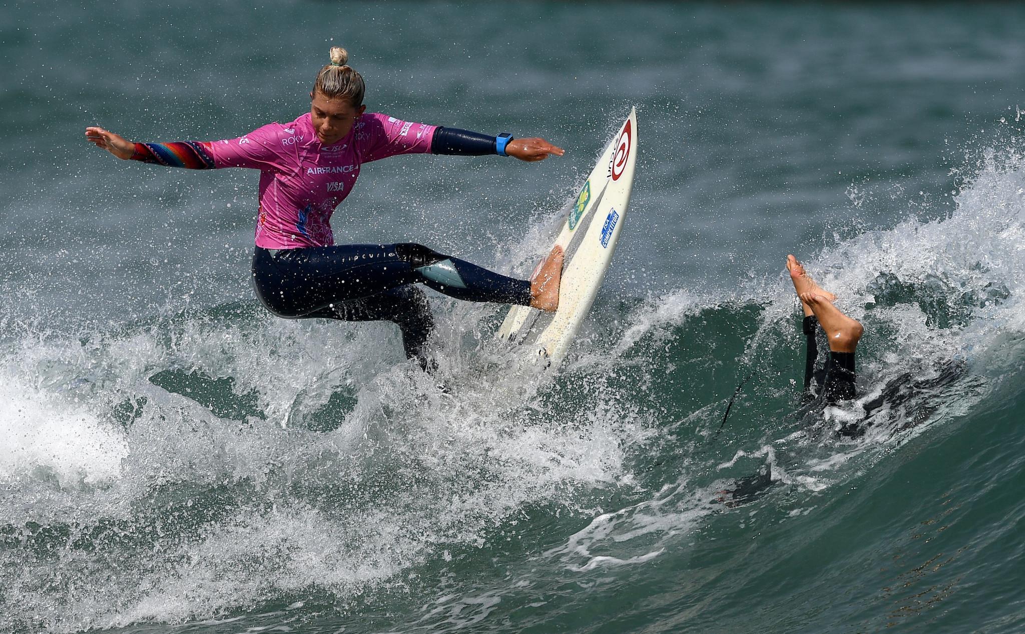 El primer Campeonato del Mundo Senior de Roas fue en el Surf World 2017 en Biarritz, donde terminó noveno © Getty Images