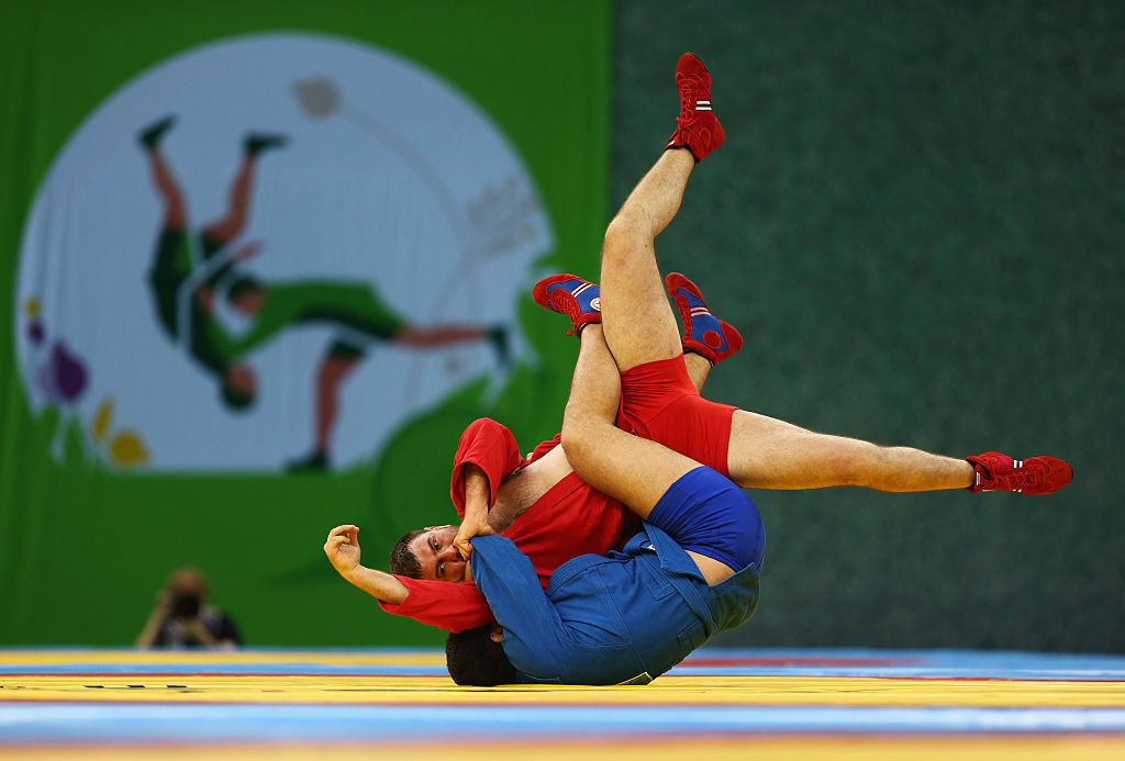 The Asian Sambo Championships began with a rush of home medals in Tashkent today ©Getty Images