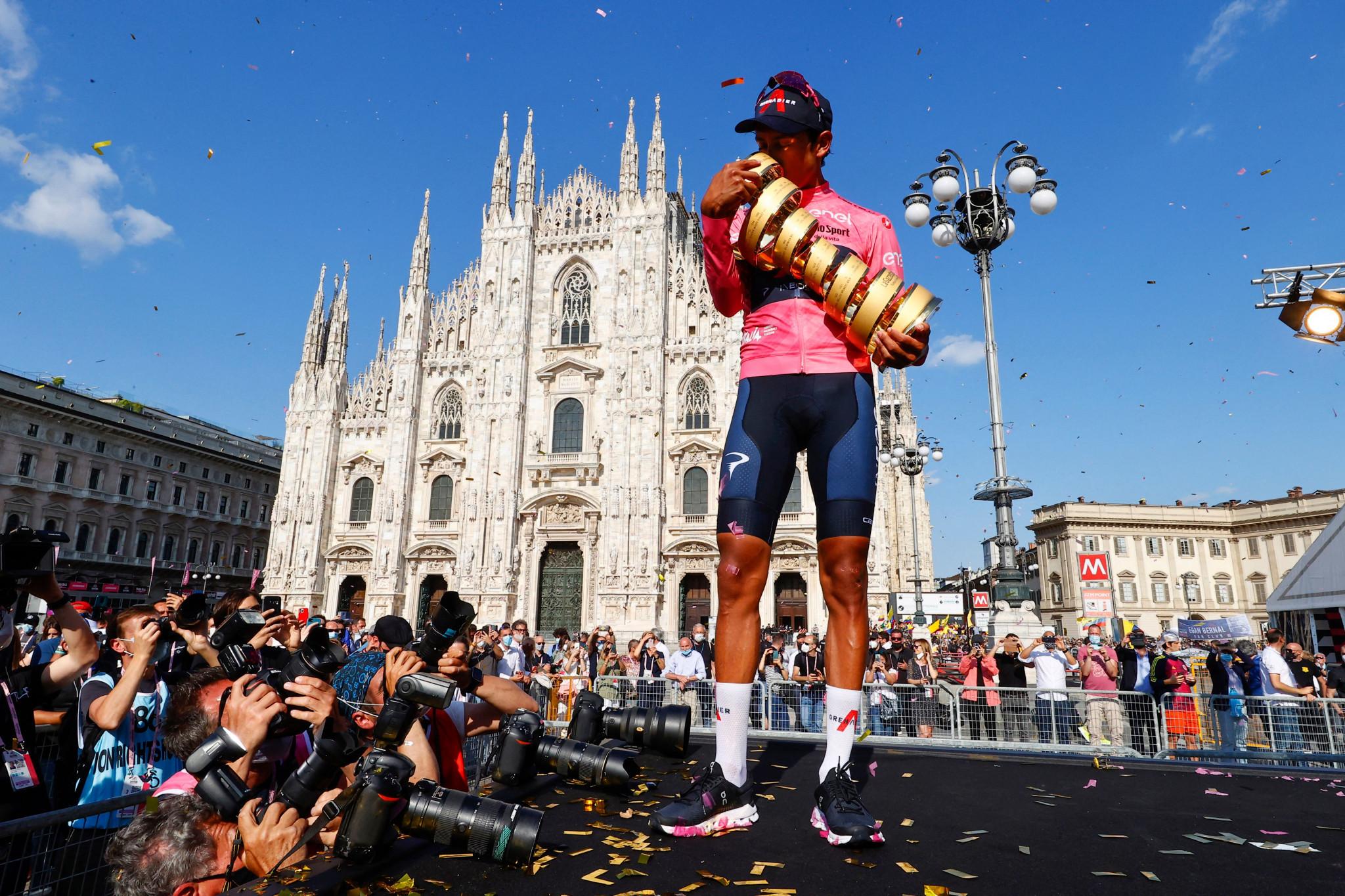 Giro d'Italia champion Bernal tests positive for COVID-19