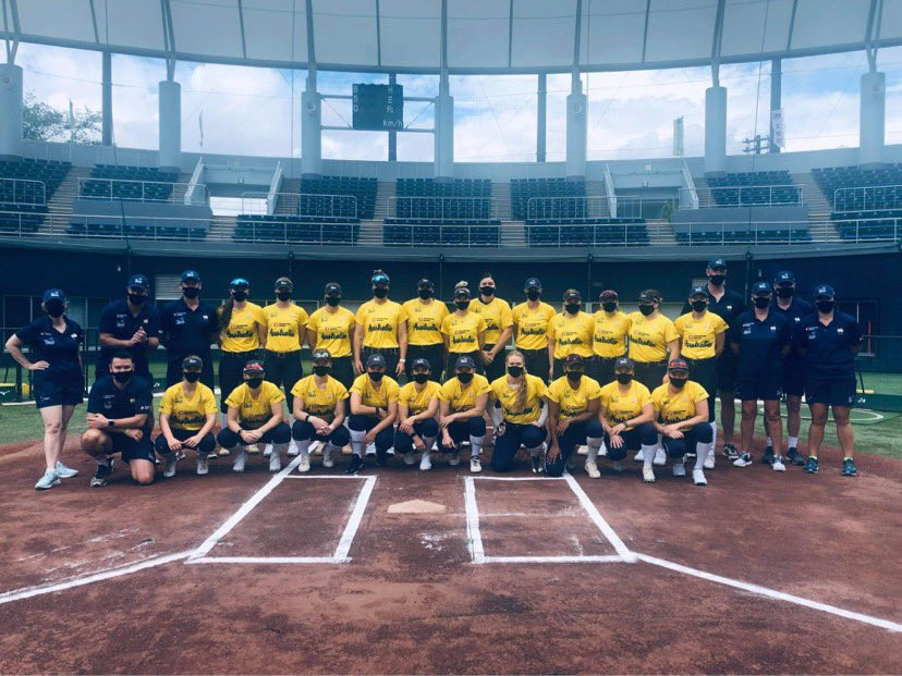 Australian softball team begin training for Tokyo 2020 at Japanese training camp