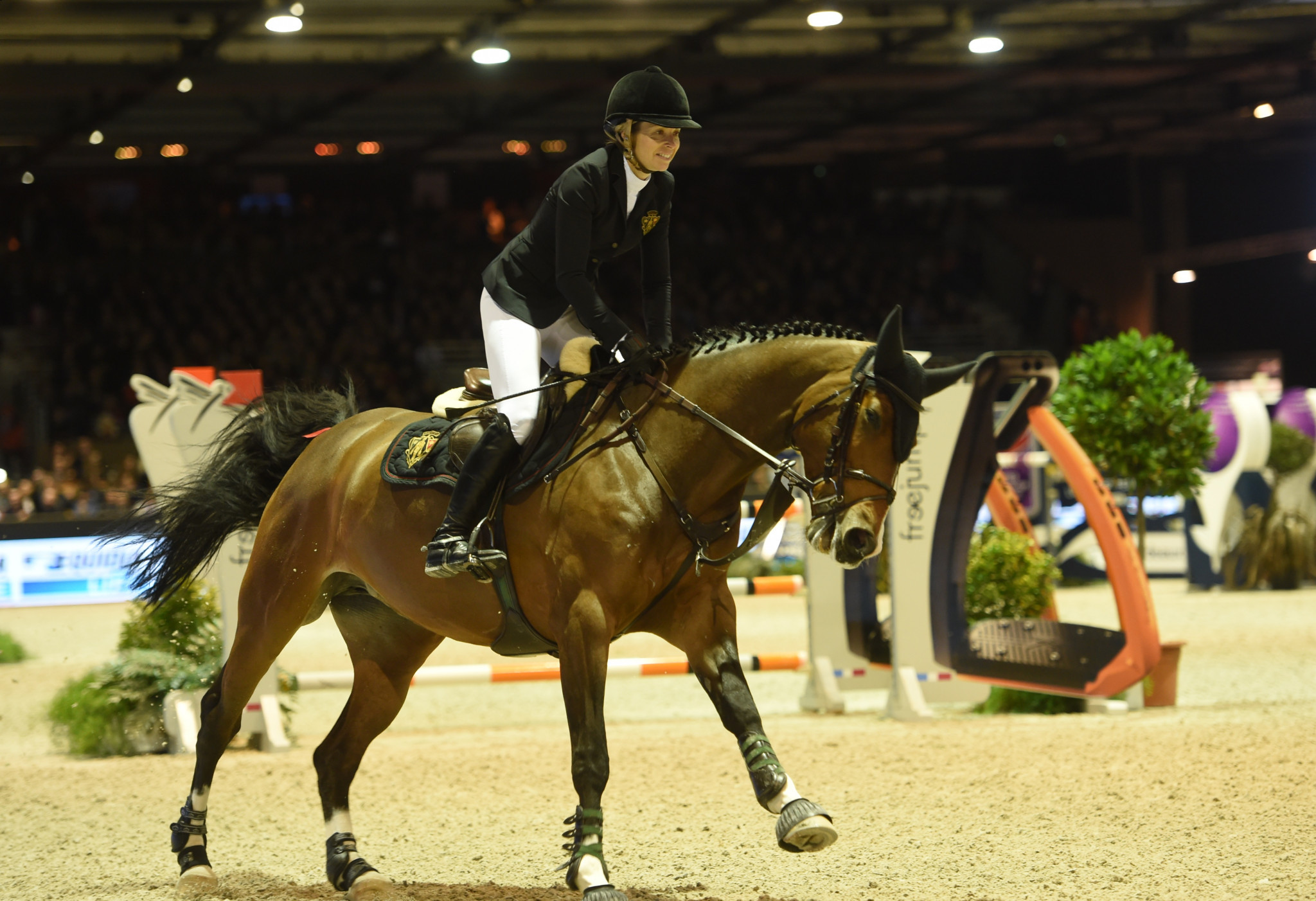 Edwina Tops-Alexander produced a fine ride but it was not enough to steer Valkenswaard United to glory ©Getty Images
