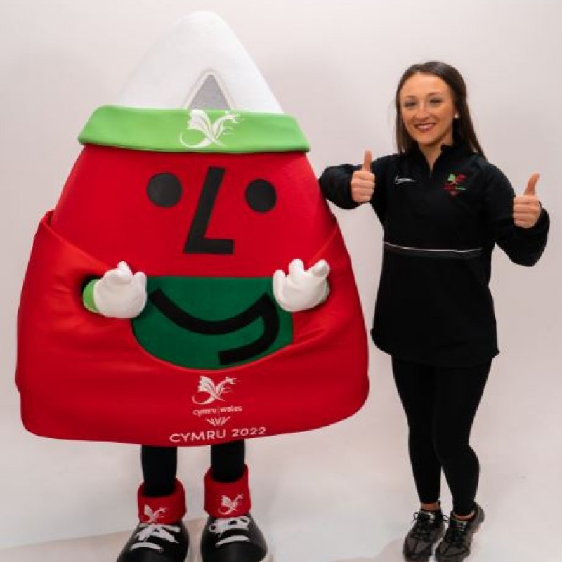 Team Wales mascot for Birmingham 2022, Mister Urdd, has been officially unveiled ©Team Wales