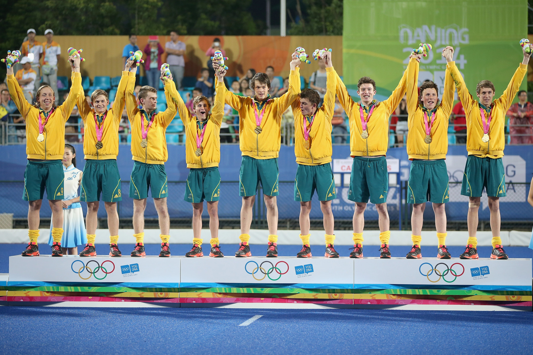 Australia clinched gold when hockey5s made its Youth Olympics debut in 2014 ©Getty Images