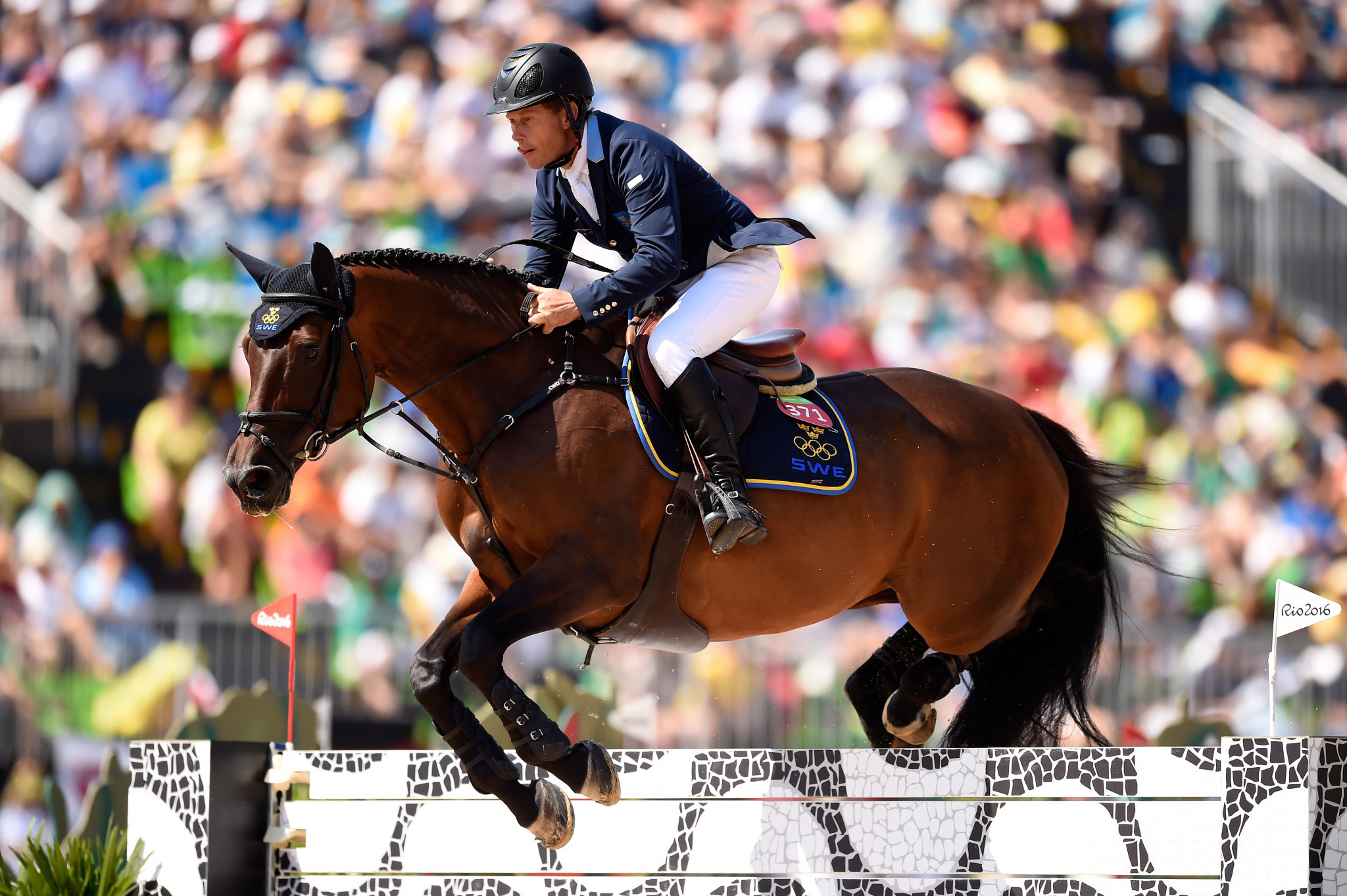 Bengtsson earns opening win for Sweden in jump-off at Jumping Nations Cup in St Gallen