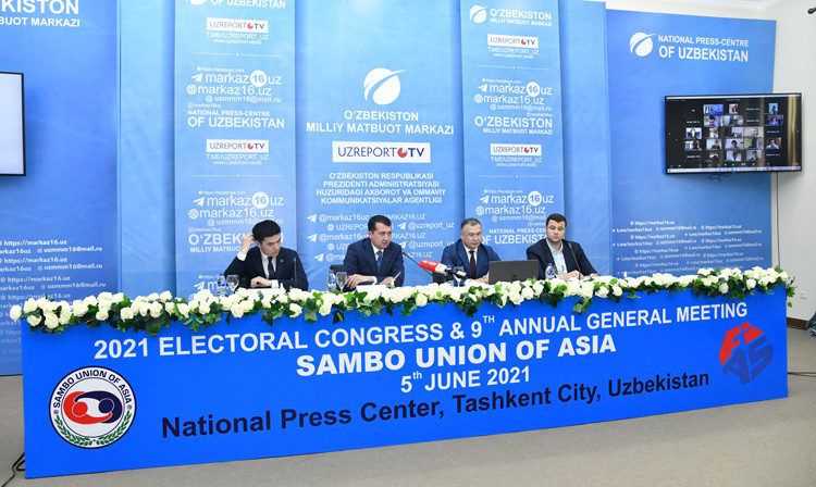 Mullayev re-elected as SUA President before hosts earn more gold on last day of Asian Sambo Championships in Tashkent