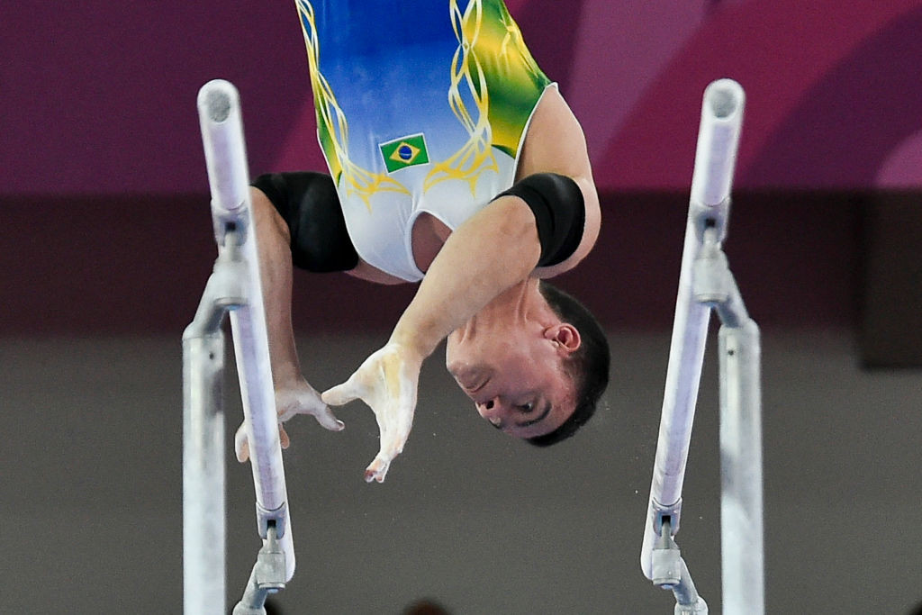 Home athlete Caio Souza finished with five golds in the men's competition at the Pan American Gymnastics Championships in Rio ©Getty Images