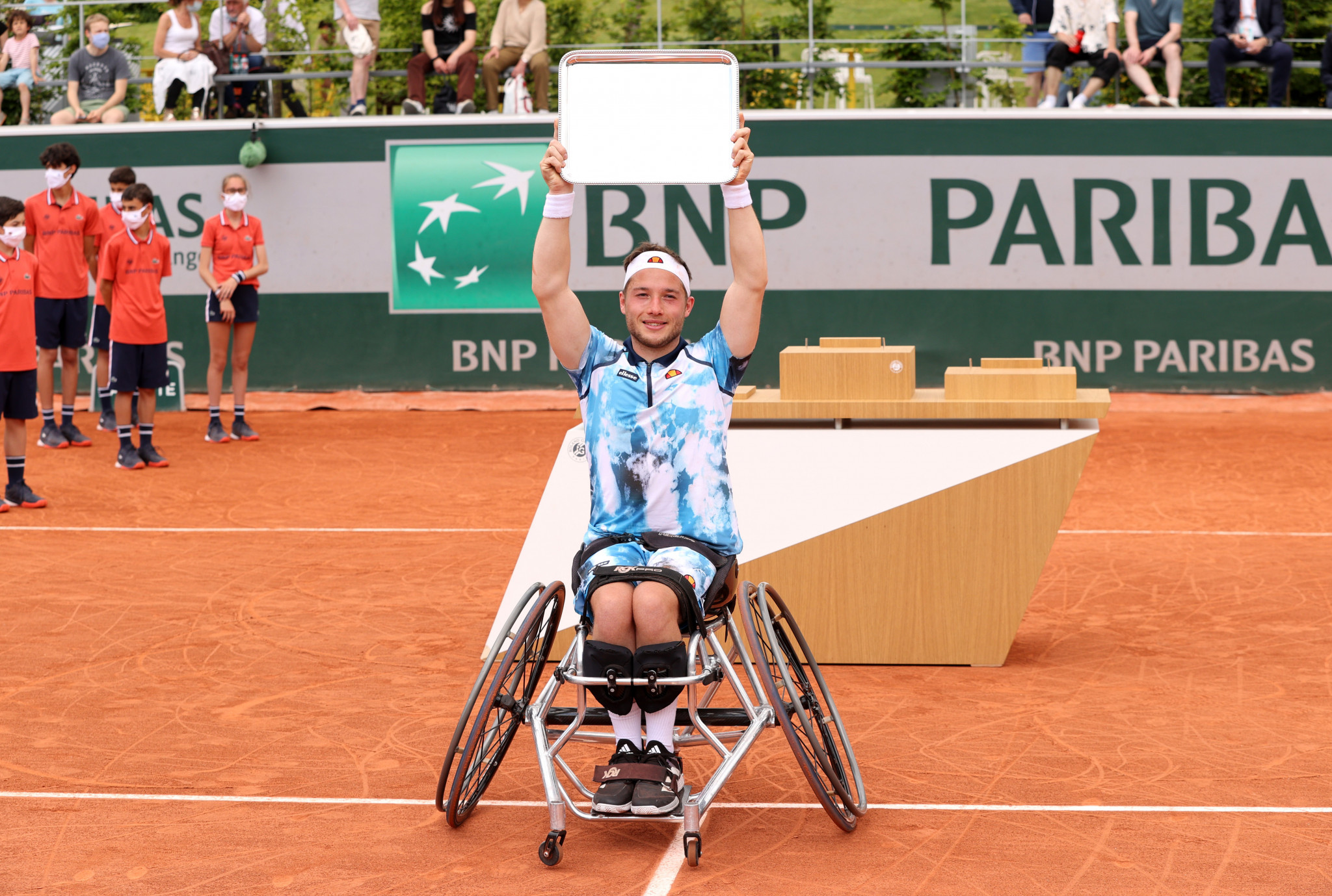 Hewett wins wheelchair men's singles title at French Open