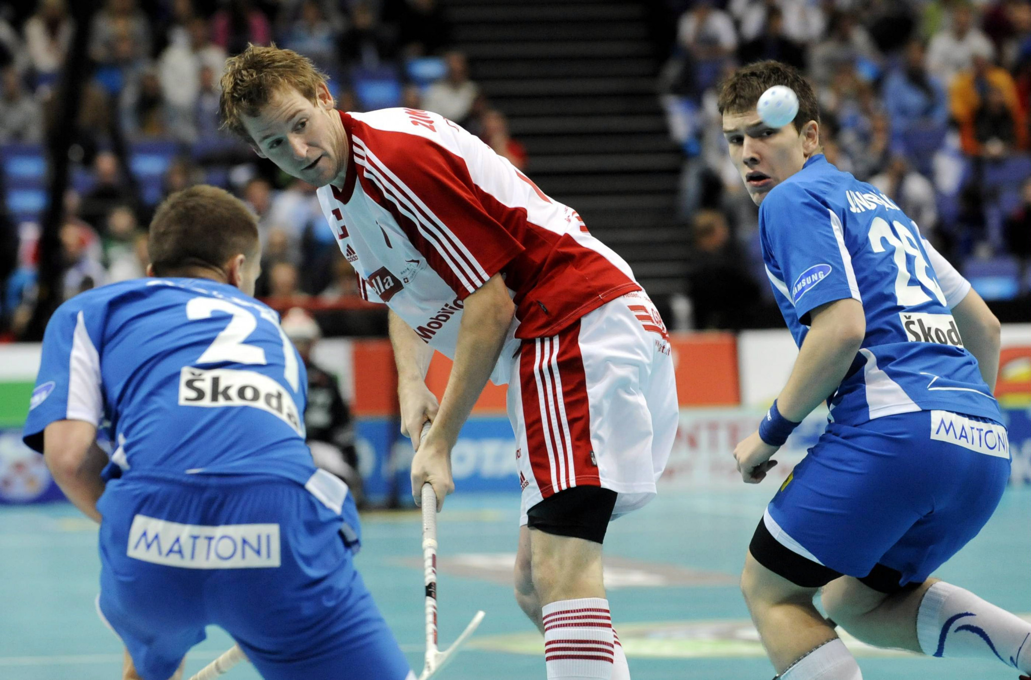 CONCORDIA's partnership with organisers of the 2022 Men's World Floorball Championships is set to enable schoolchildren to attend the event while also giving families an opportunity to try out the sport ©Getty Images
