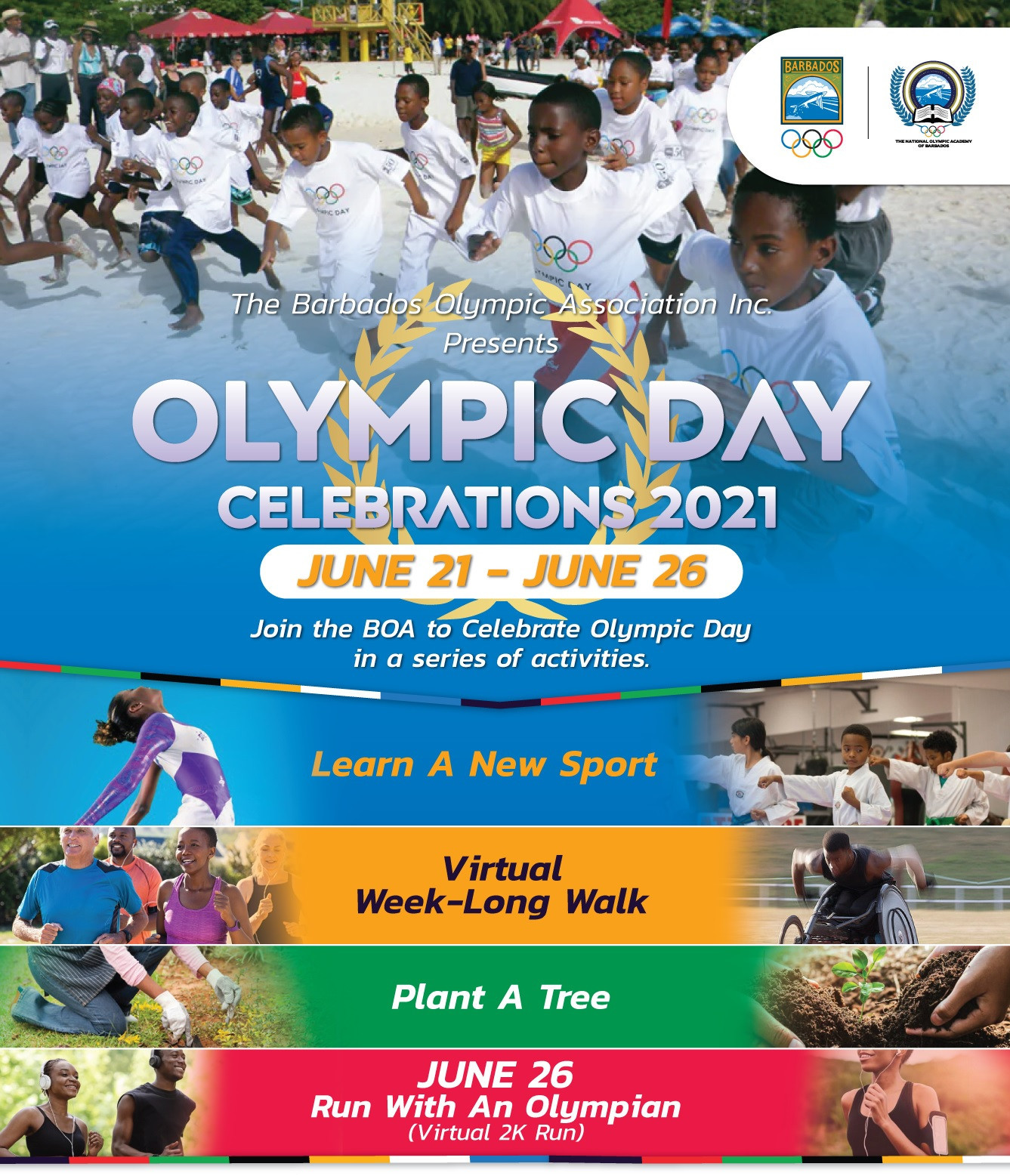 Barbados Olympic Association announces details of week of activities as part of Olympic Day celebrations