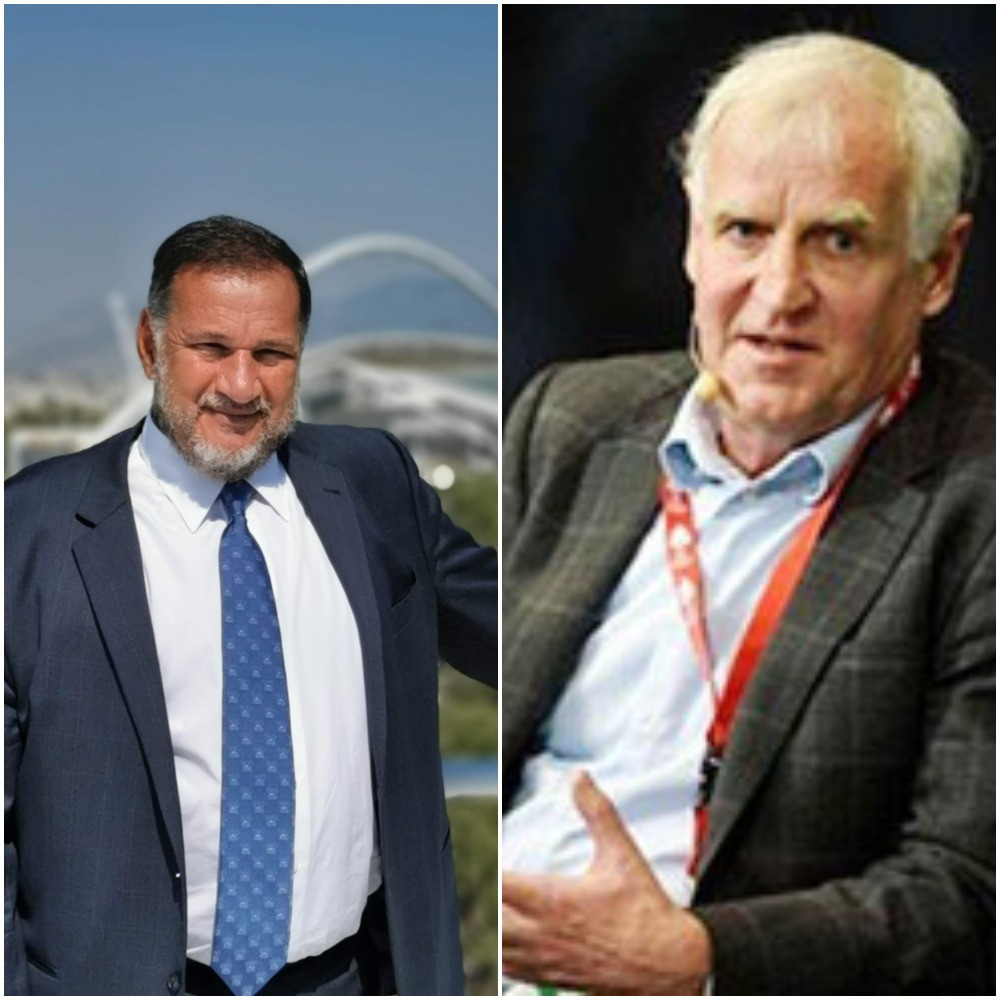Spyros Capralos, left, and Niels Nygaard are contesting the Presidency of the European Olympic Committees tomorrow at the 50th anniversary General Assembly in Athens ©ITG