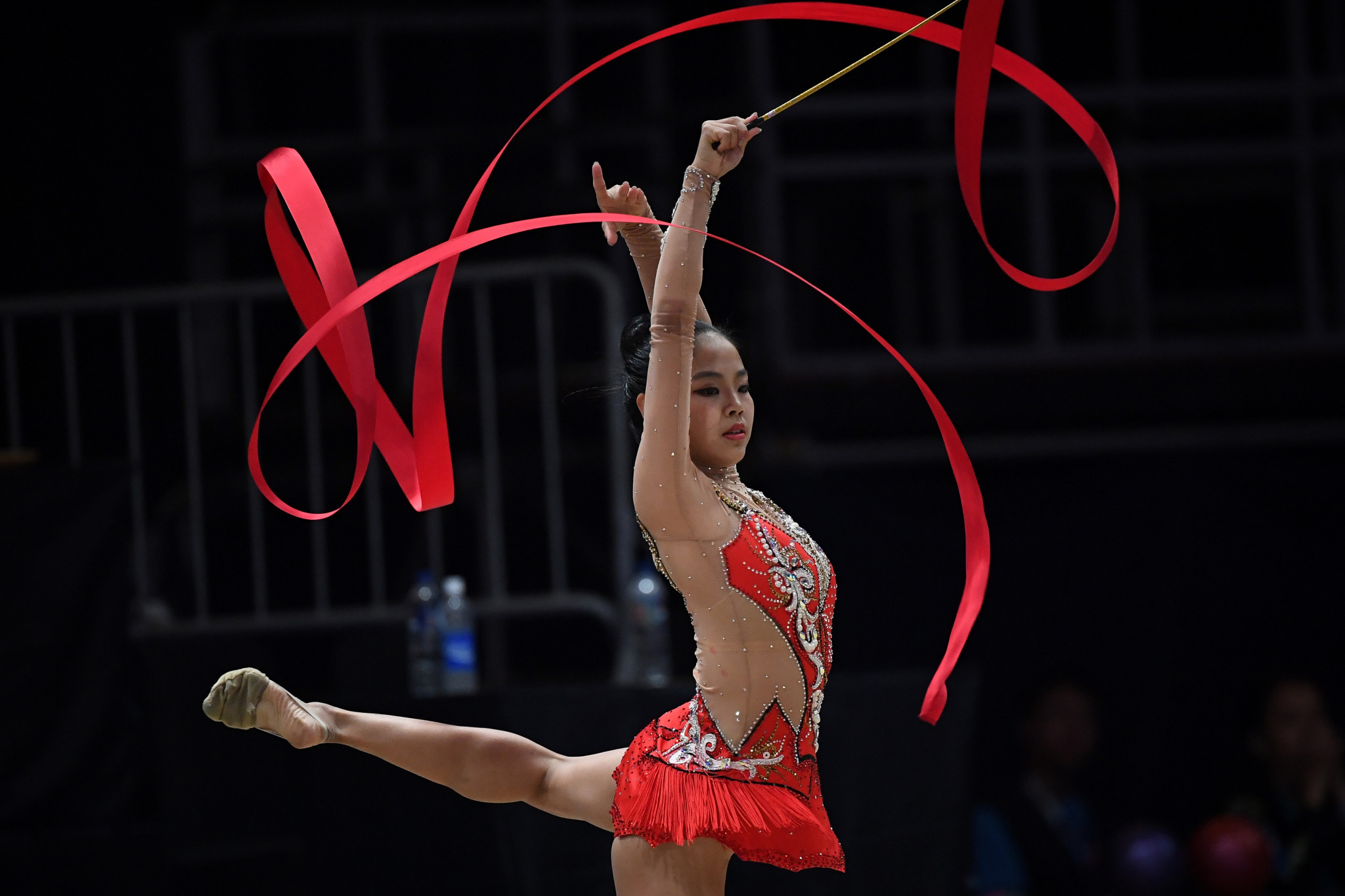 Zhao Yating claimed gold in the ribbon event today ©Getty Images