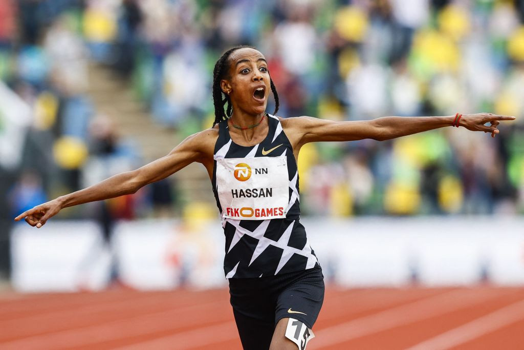 """Hassan, set for Diamond League 1500m, """"happy"""" that Gidey beat her world 10,000m record"""
