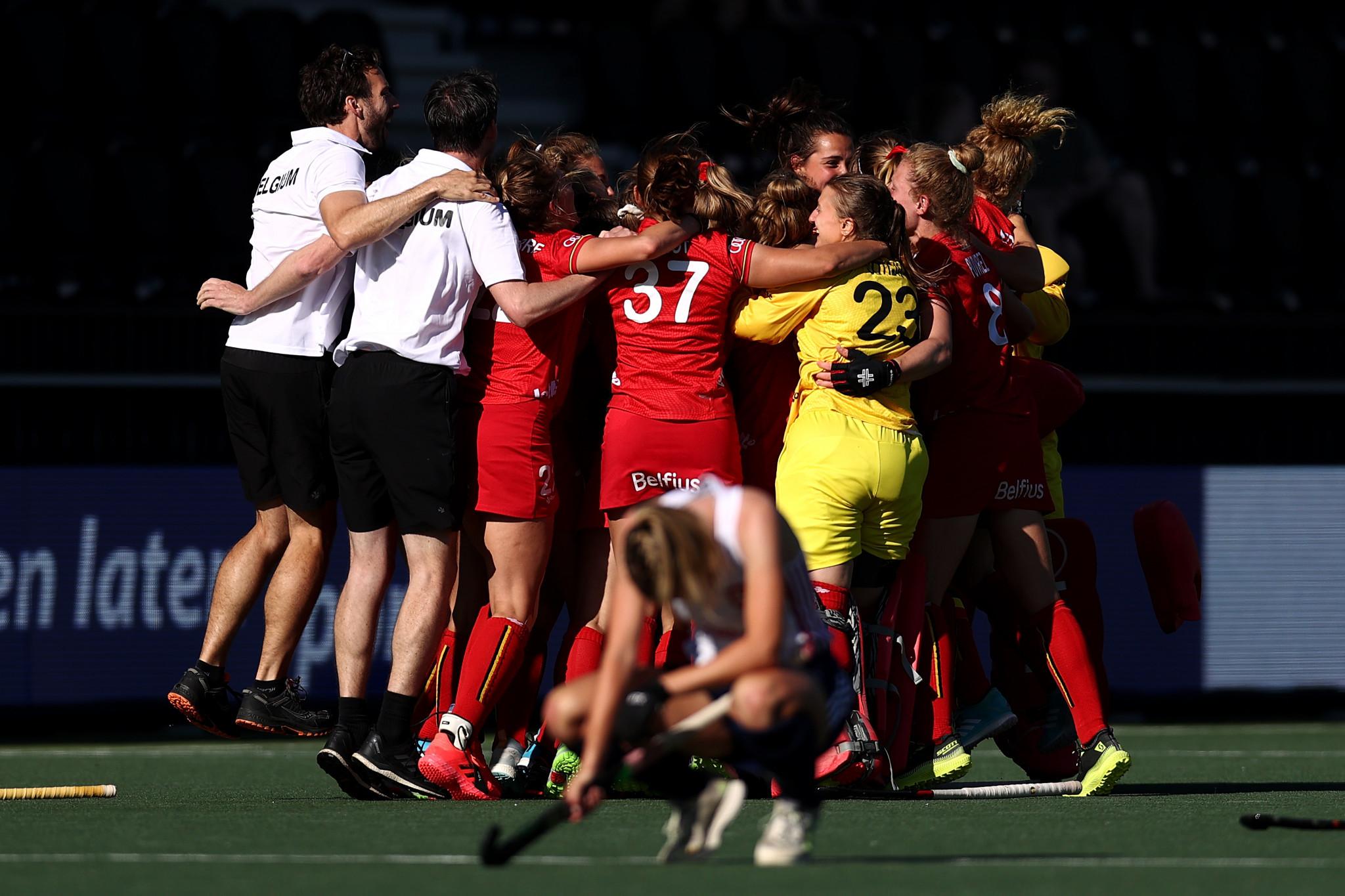 Late Belgium goal knocks England out of women's EuroHockey Championship